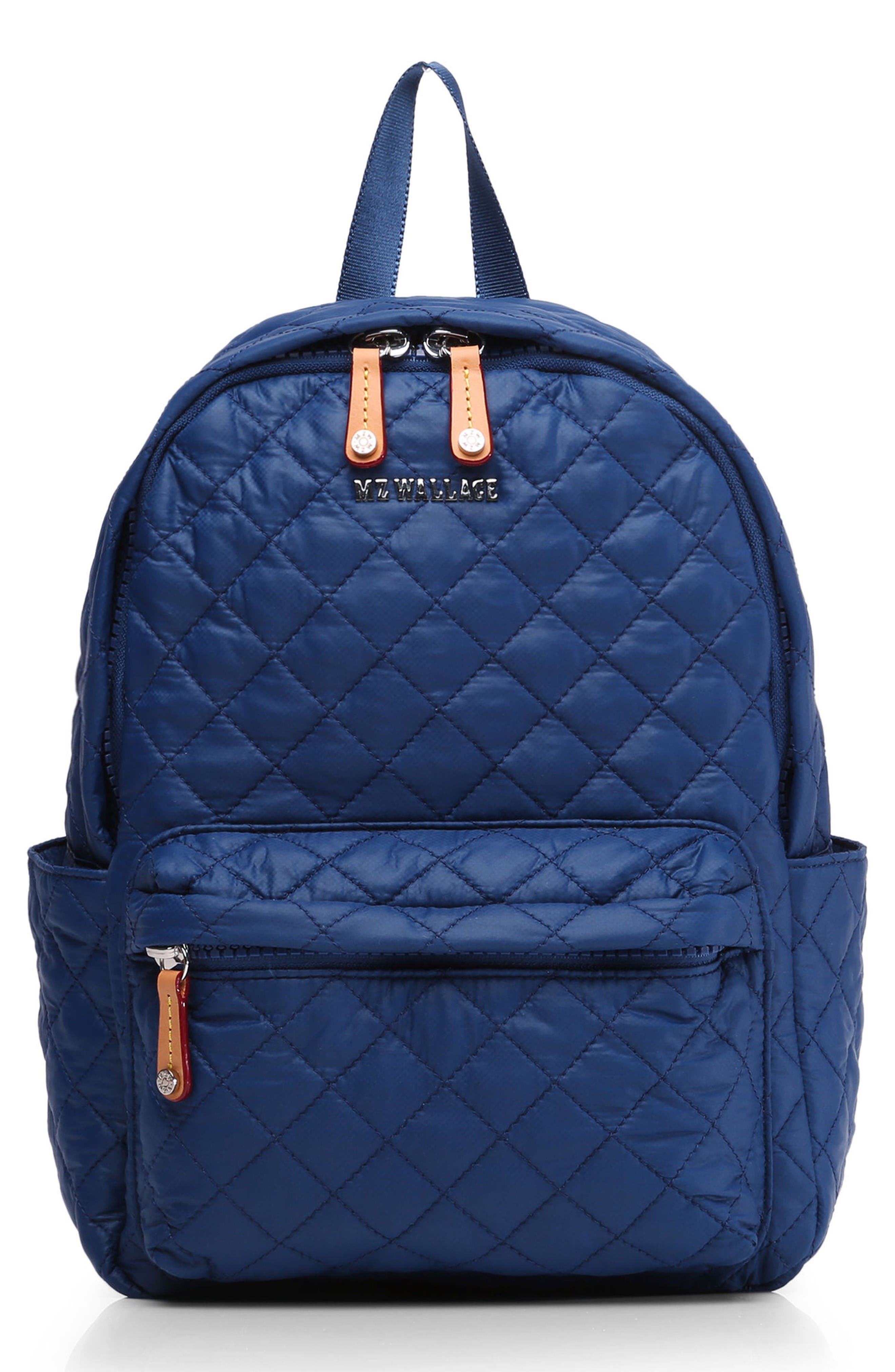 Main Image - MZ Wallace 'Small Metro' Quilted Oxford Nylon Backpack