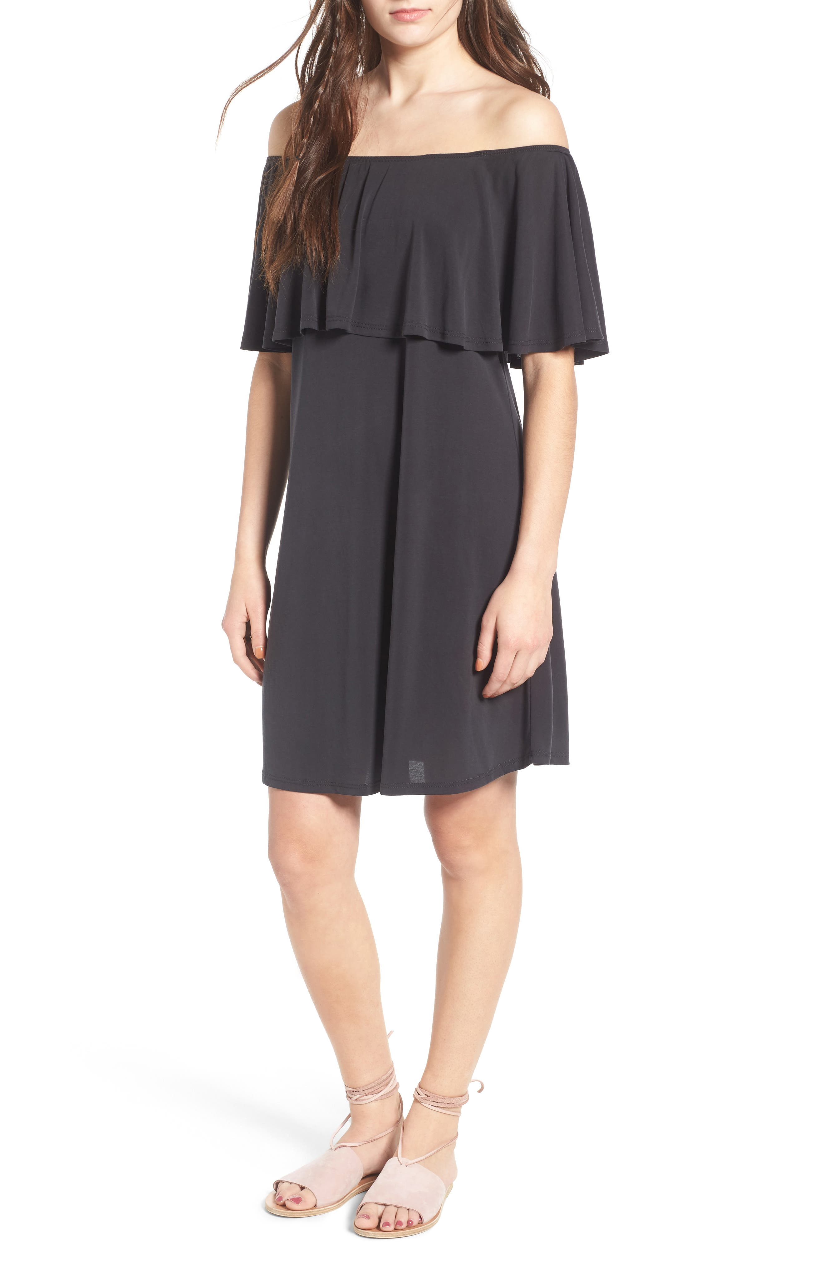 Alternate Image 1 Selected - BP. Off the Shoulder Ruffle Dress