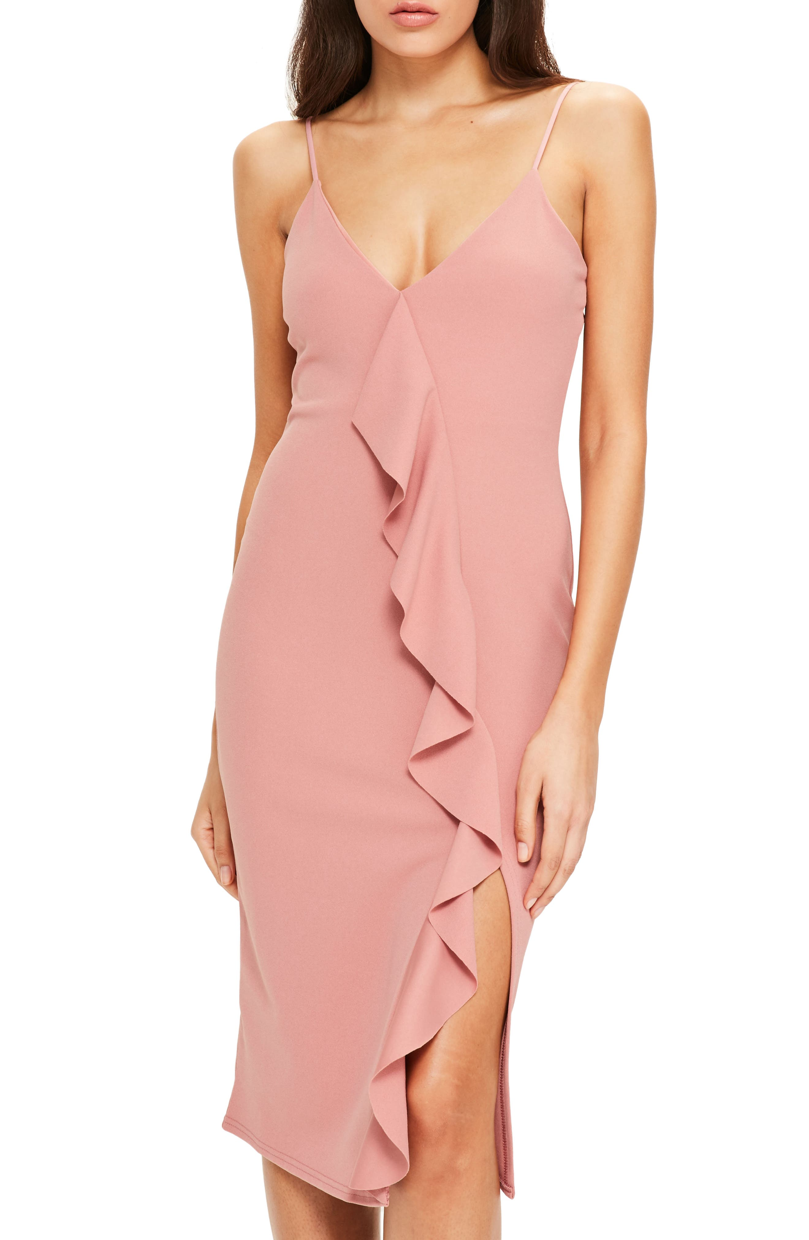 Alternate Image 1 Selected - Missguided Ruffle Midi Dress