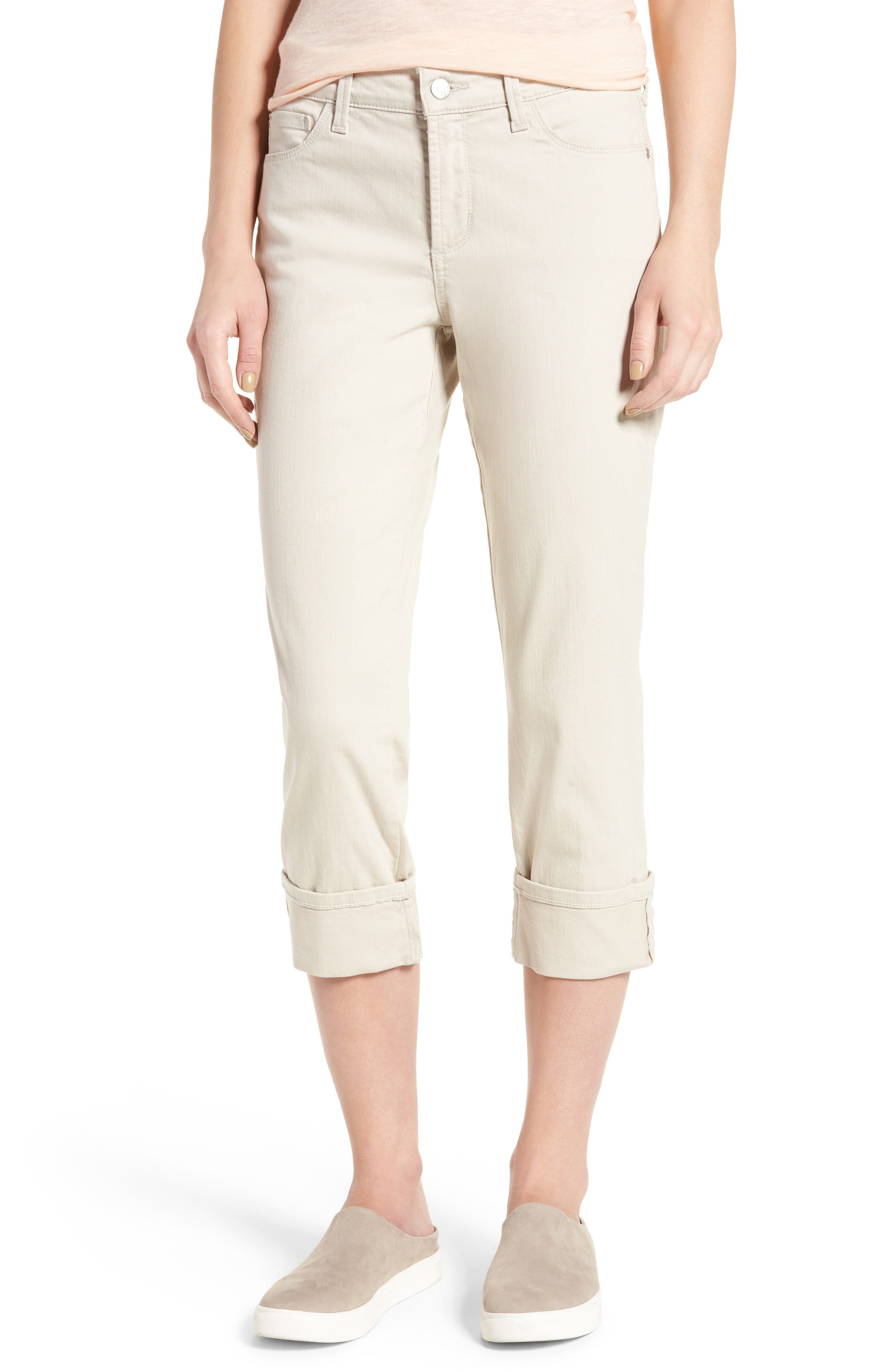 NYDJ Dayla Colored Wide Cuff Capri Jeans (Regular & Petite)