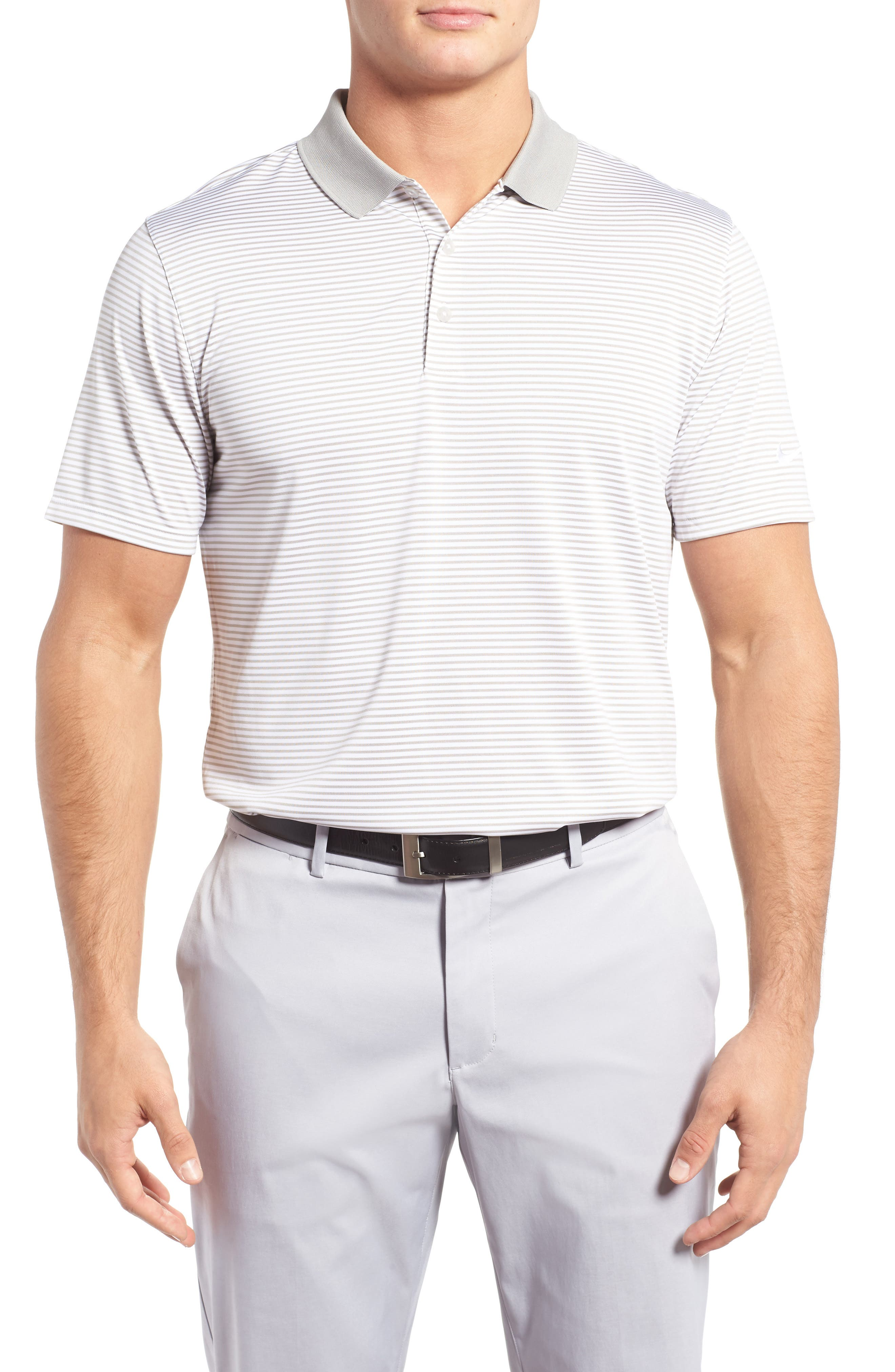 NIKE 'Victory Stripe' Dri-FIT Golf Polo