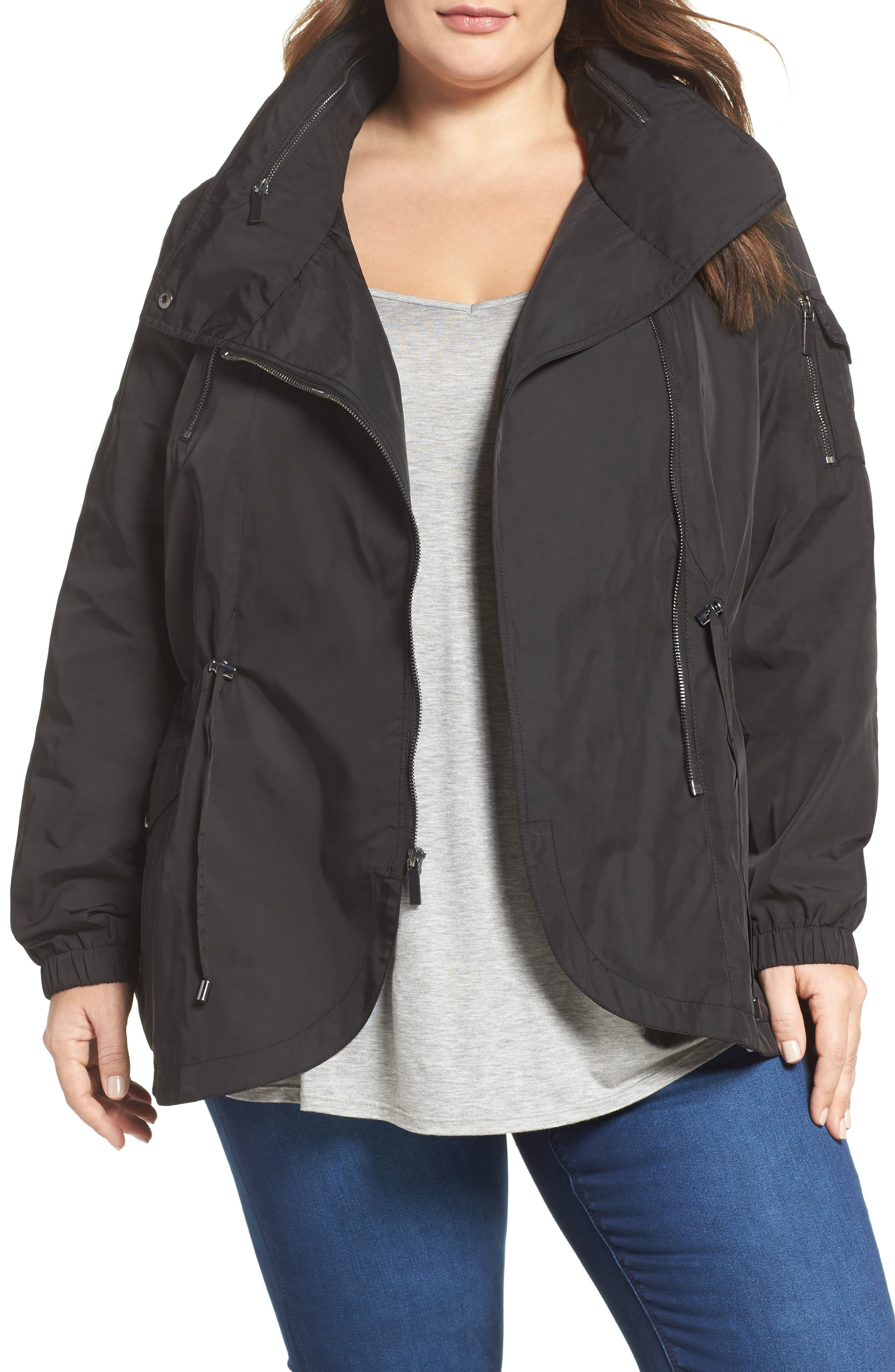 French Connection Tulip Hem Anorak (Plus Size)