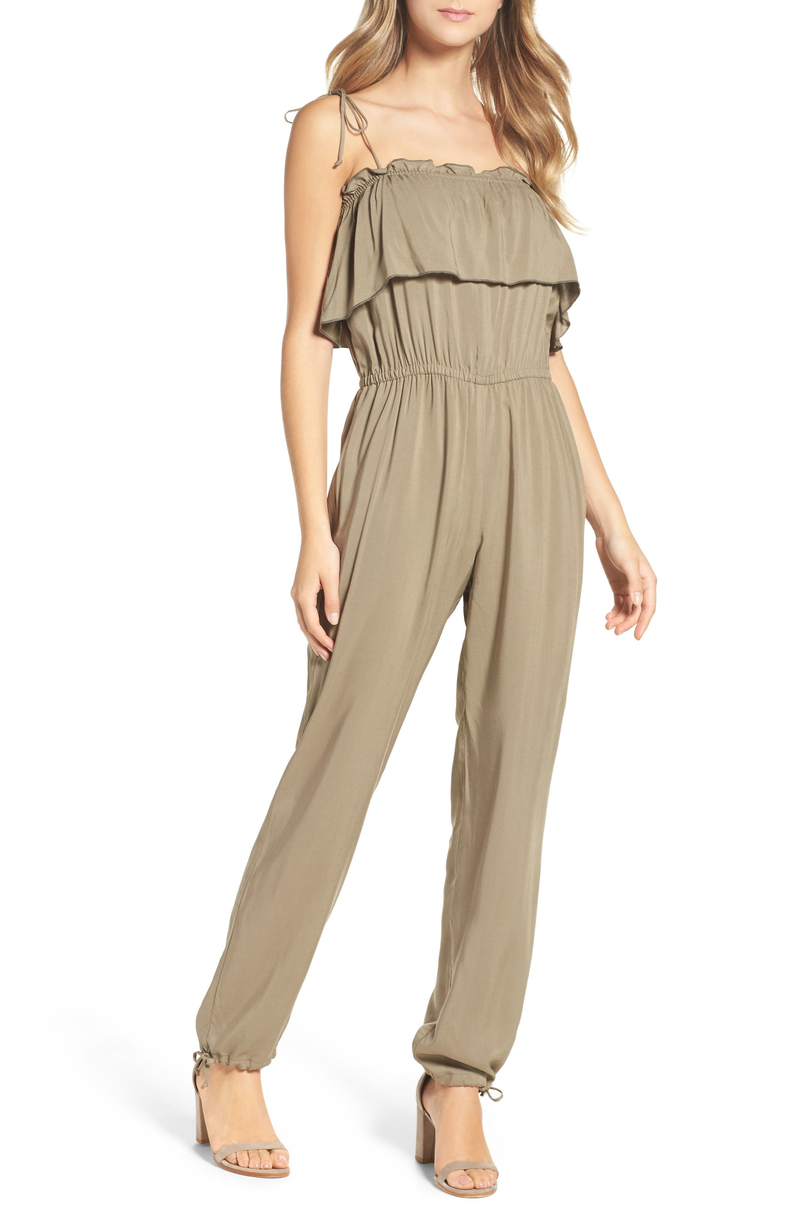 Alternate Image 1 Selected - NSR Ruffle Jumpsuit