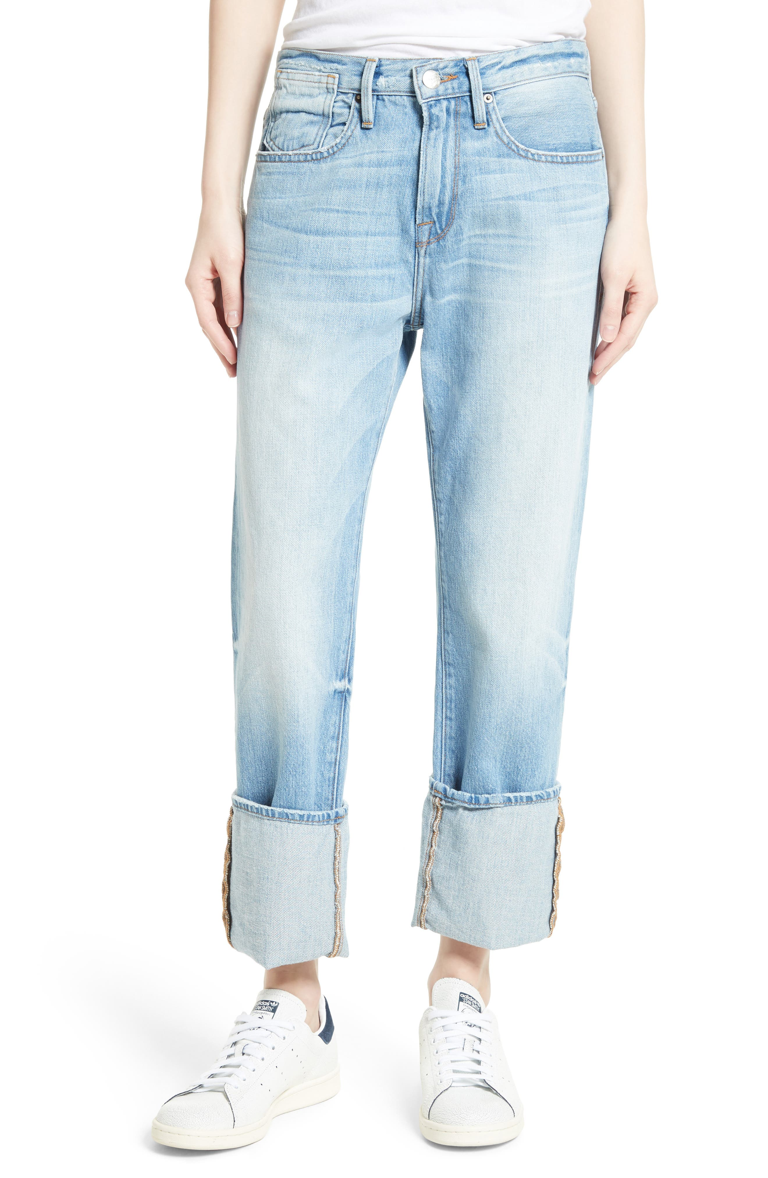 FRAME Le Oversized Cuffed Jeans