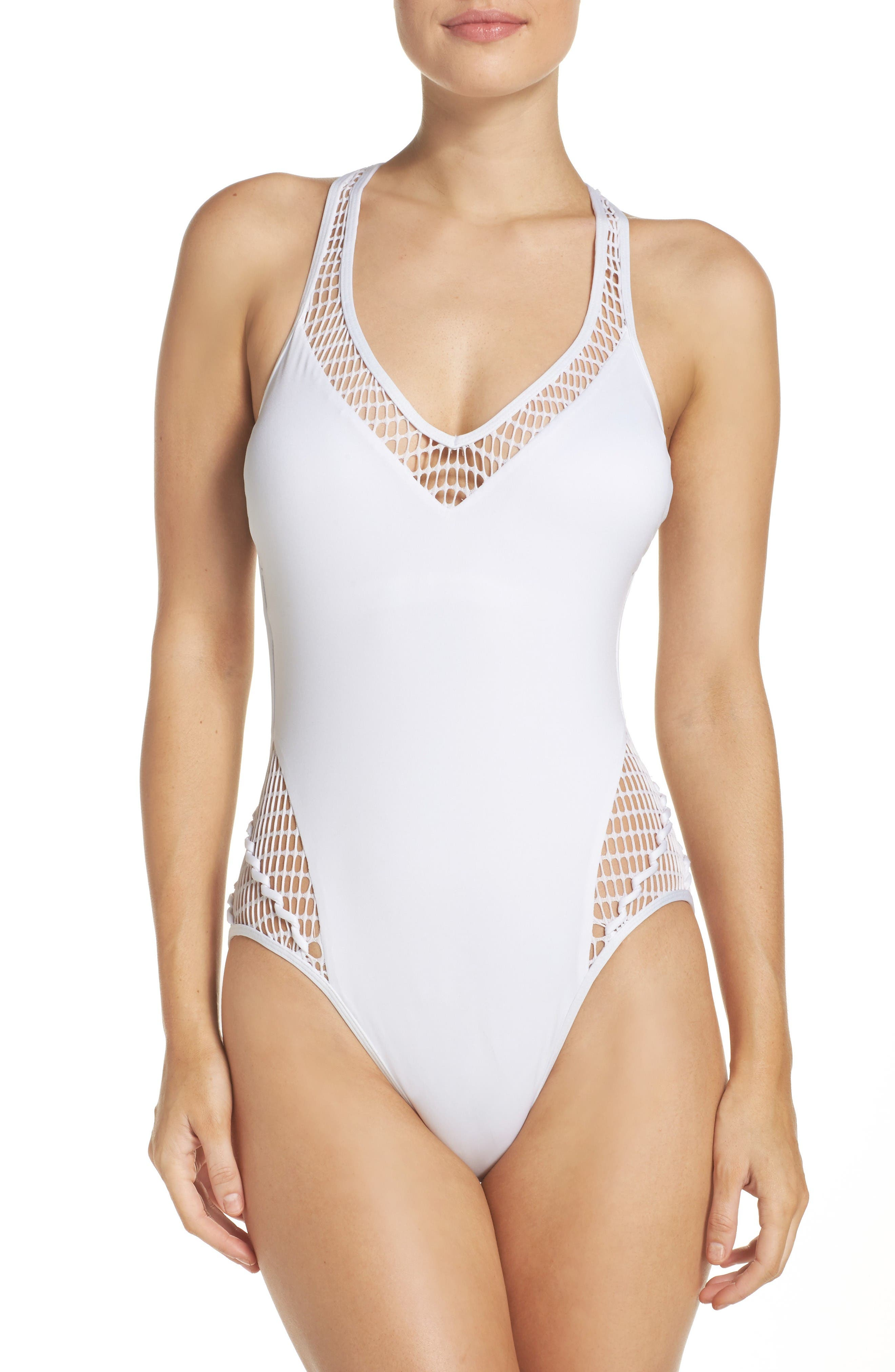 Alternate Image 1 Selected - Kenneth Cole New York Wrapped in Love One-Piece Swimsuit