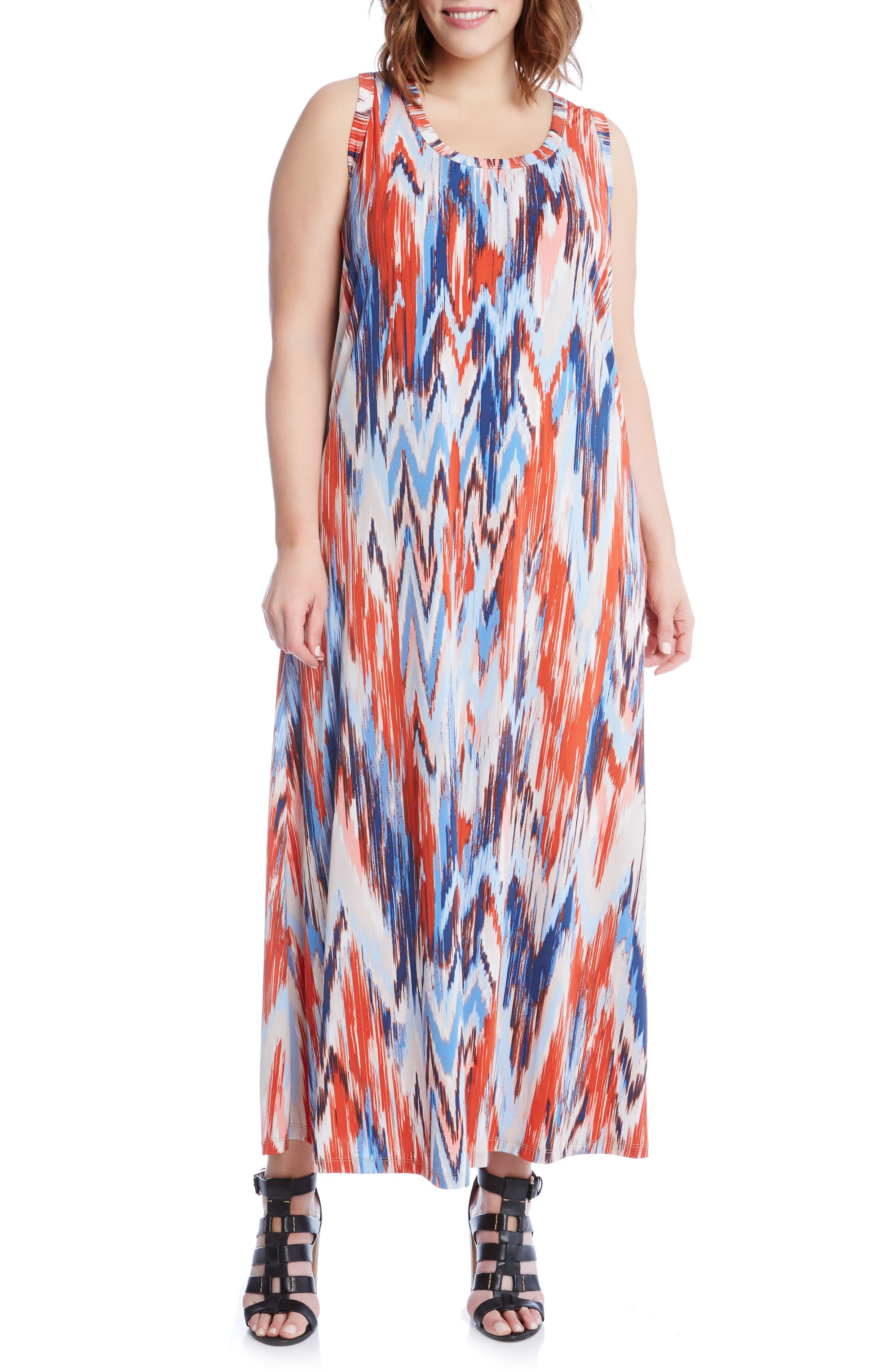Karen Kane Print Maxi Tank Dress (Plus Size)