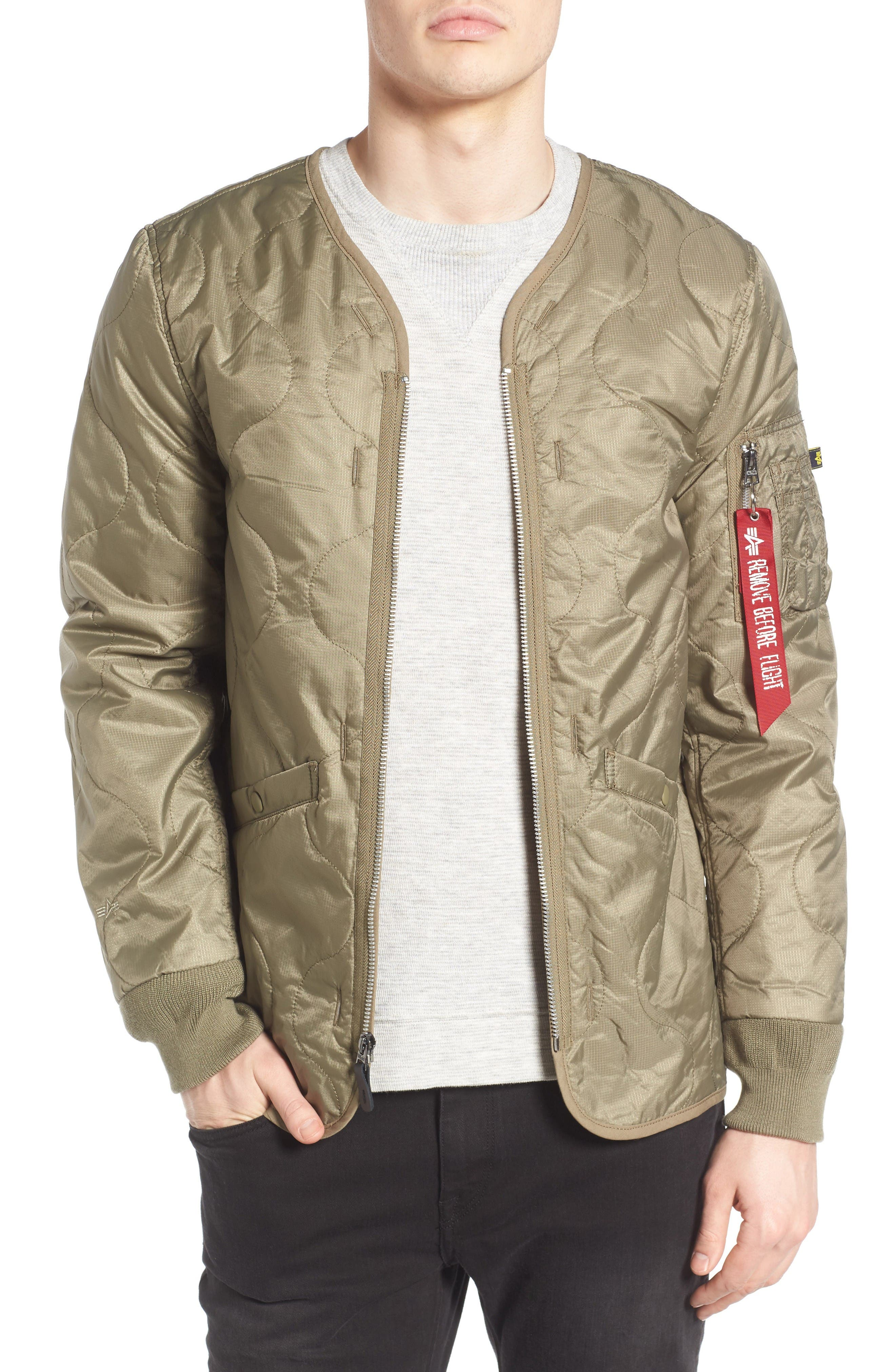 Alpha Industries Pioneer Quilted Bomber Jacket