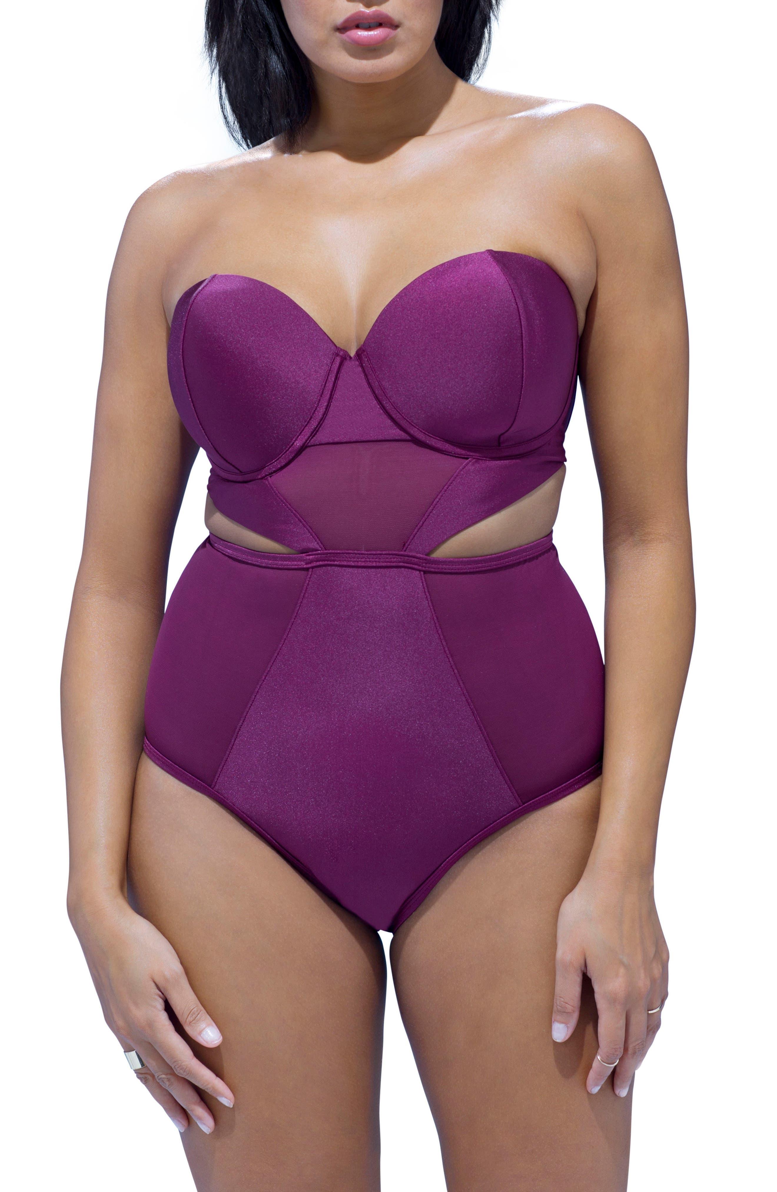 GabiFresh Reflection Convertible Underwire Swimsuit (Plus Size)