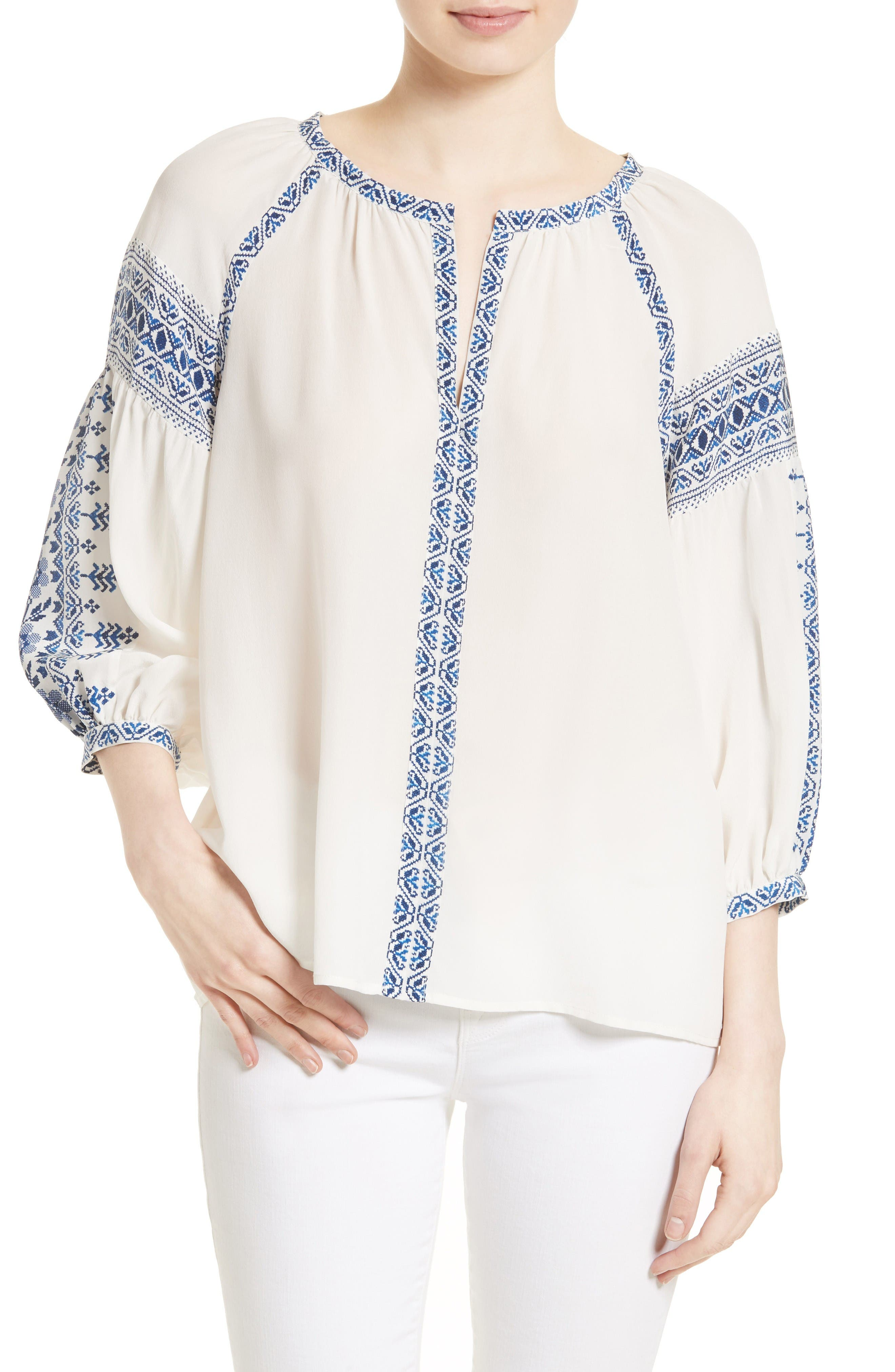 Joie Montay Silk Blouse