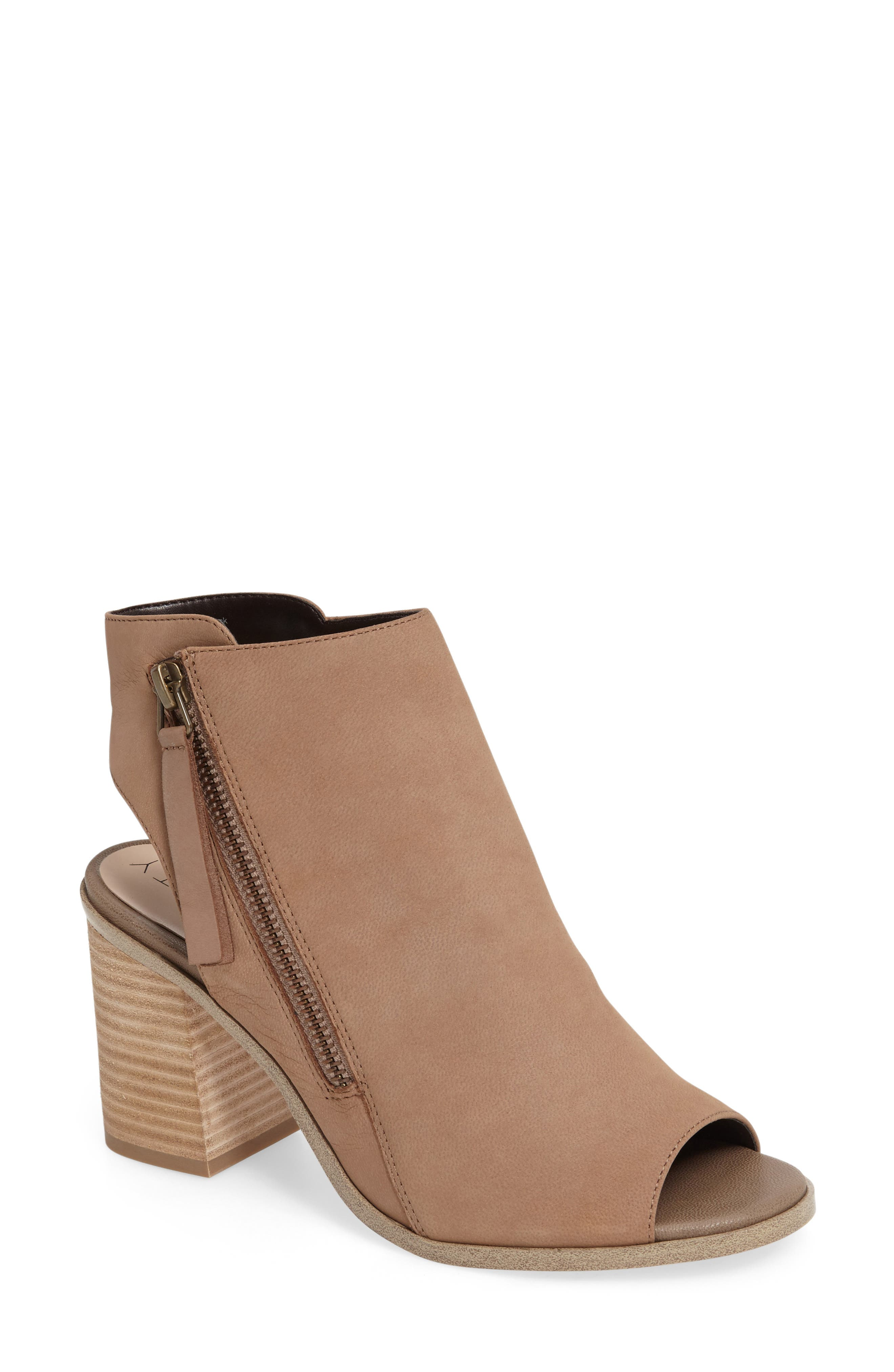 Alternate Image 1 Selected - Sole Society Arizona Block Heel Peep-Toe Bootie (Women)