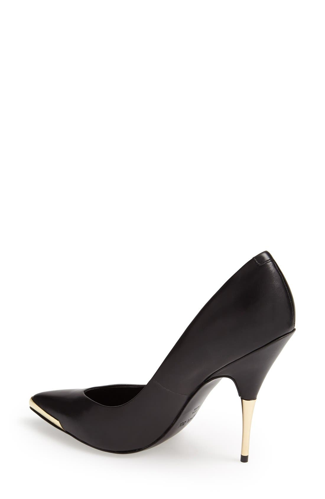 Alternate Image 2  - Rachel Zoe 'Carina' Leather Pointy Toe Pump (Women)