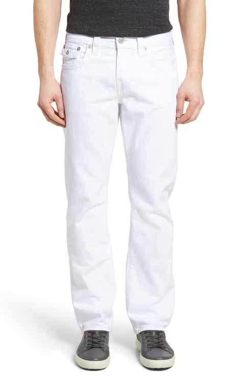 True Religion Brand Jeans Ricky Relaxed Fit Jeans (Optic White)