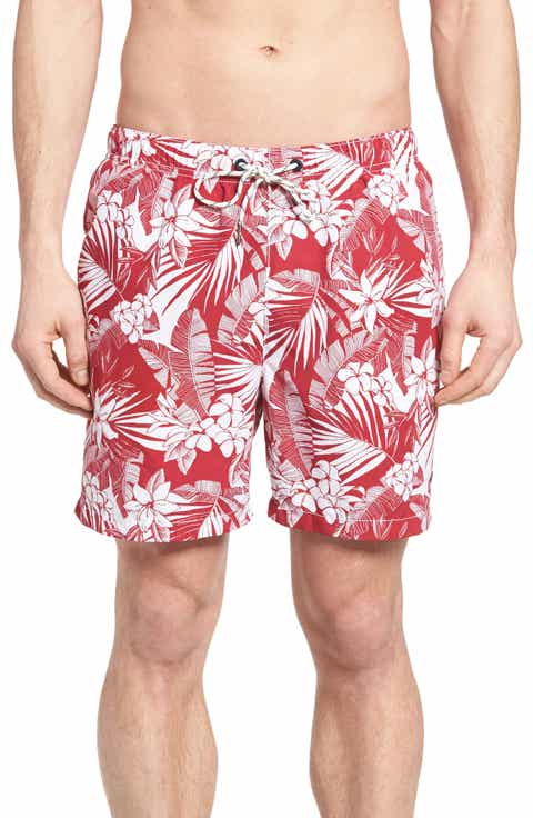 Tommy Bahama Naples Plumeria Paradise Print Swim Trunks
