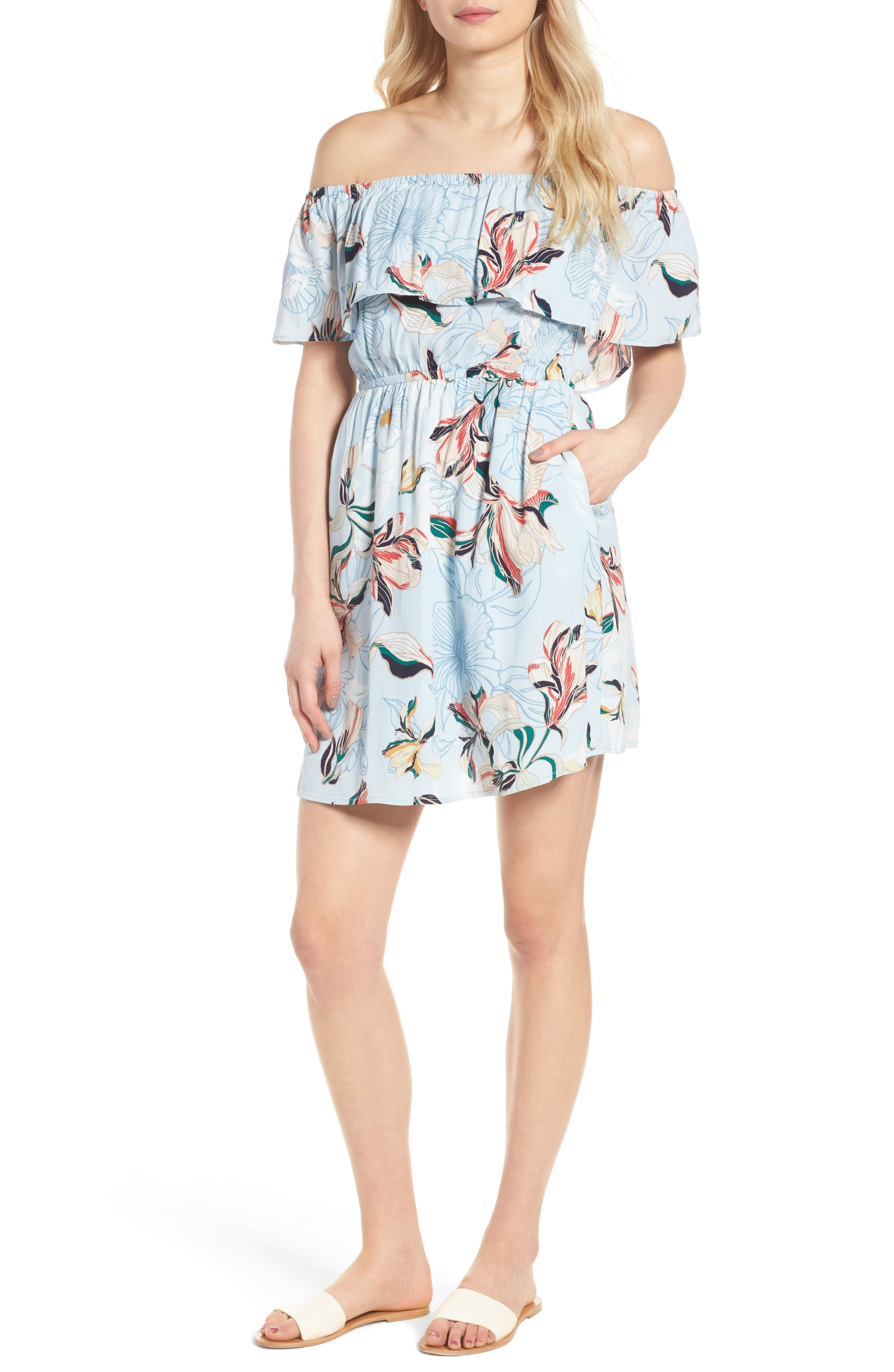 cupcakes and cashmere Potter Off the Shoulder Dress