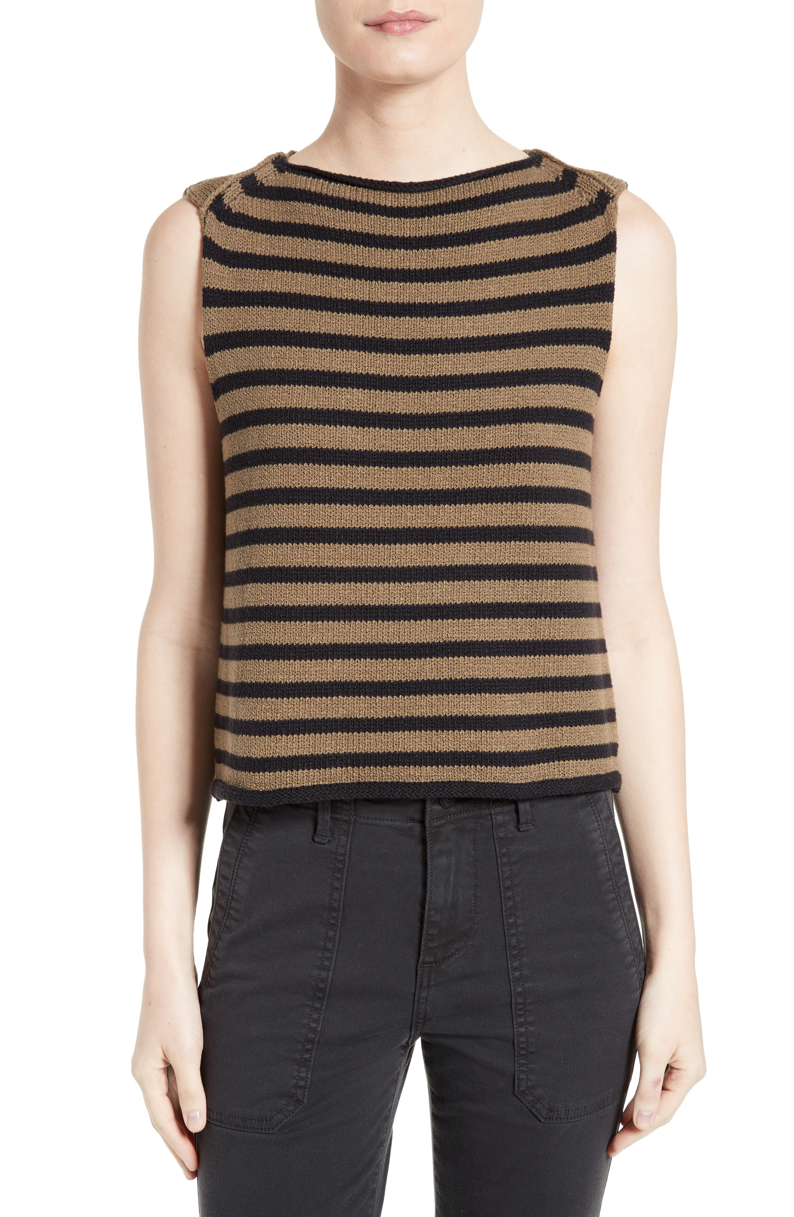Alternate Image 1 Selected - Vince Stripe Knit Tank