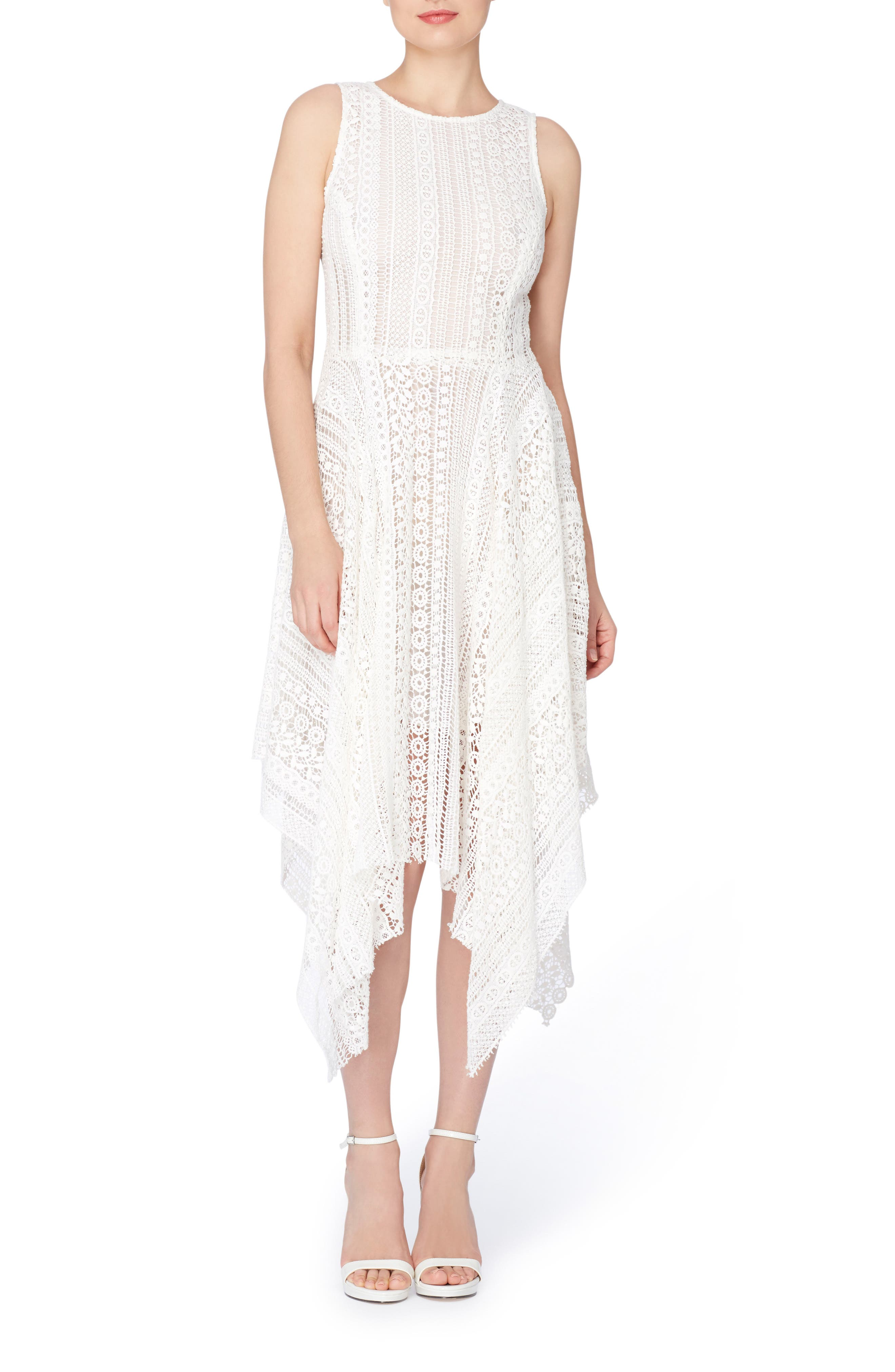 Catherine Catherine Malandrino Webb Lace Midi Dress