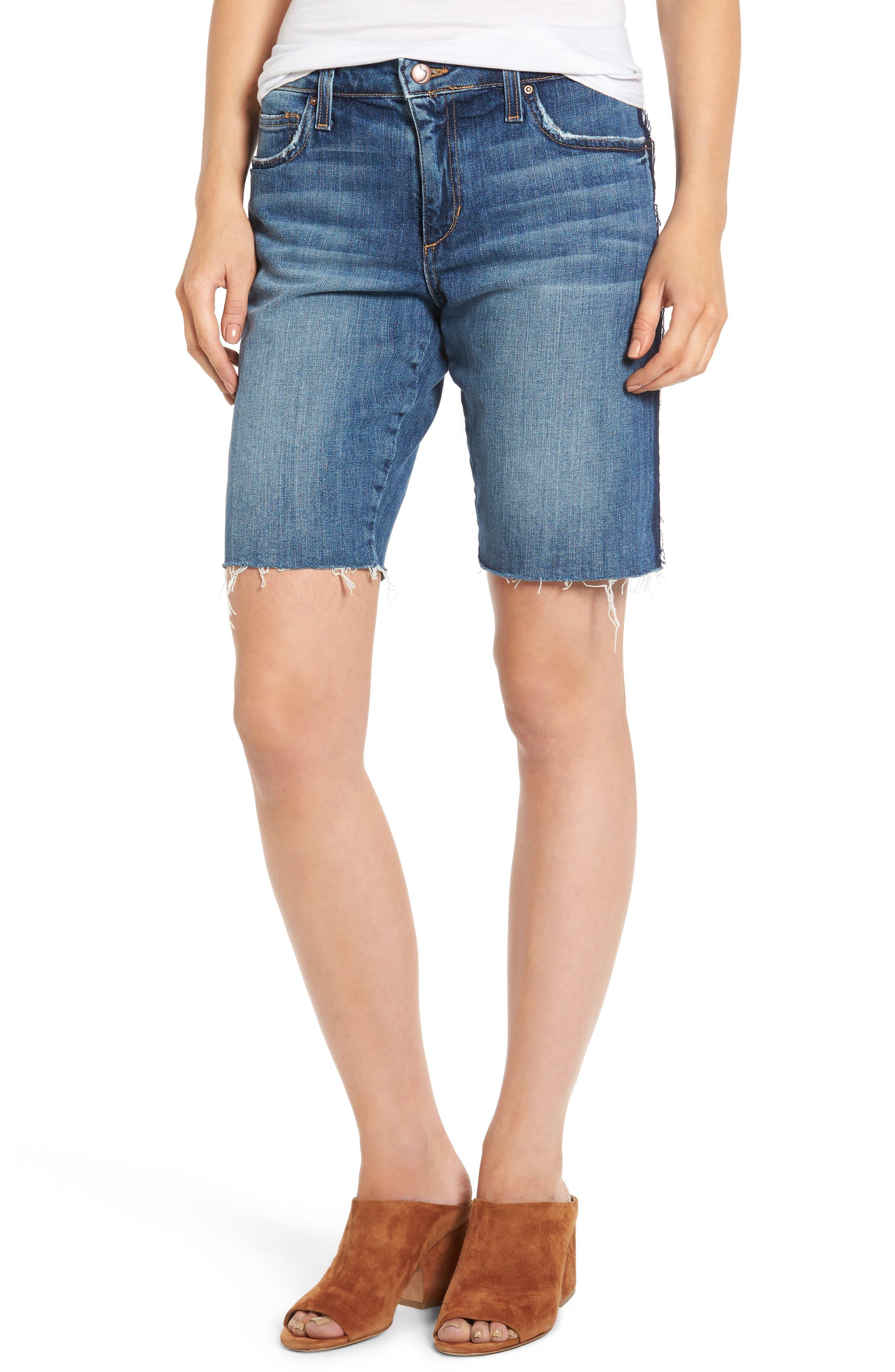 Joe's Reworked Denim Bermuda Shorts (Leighla)