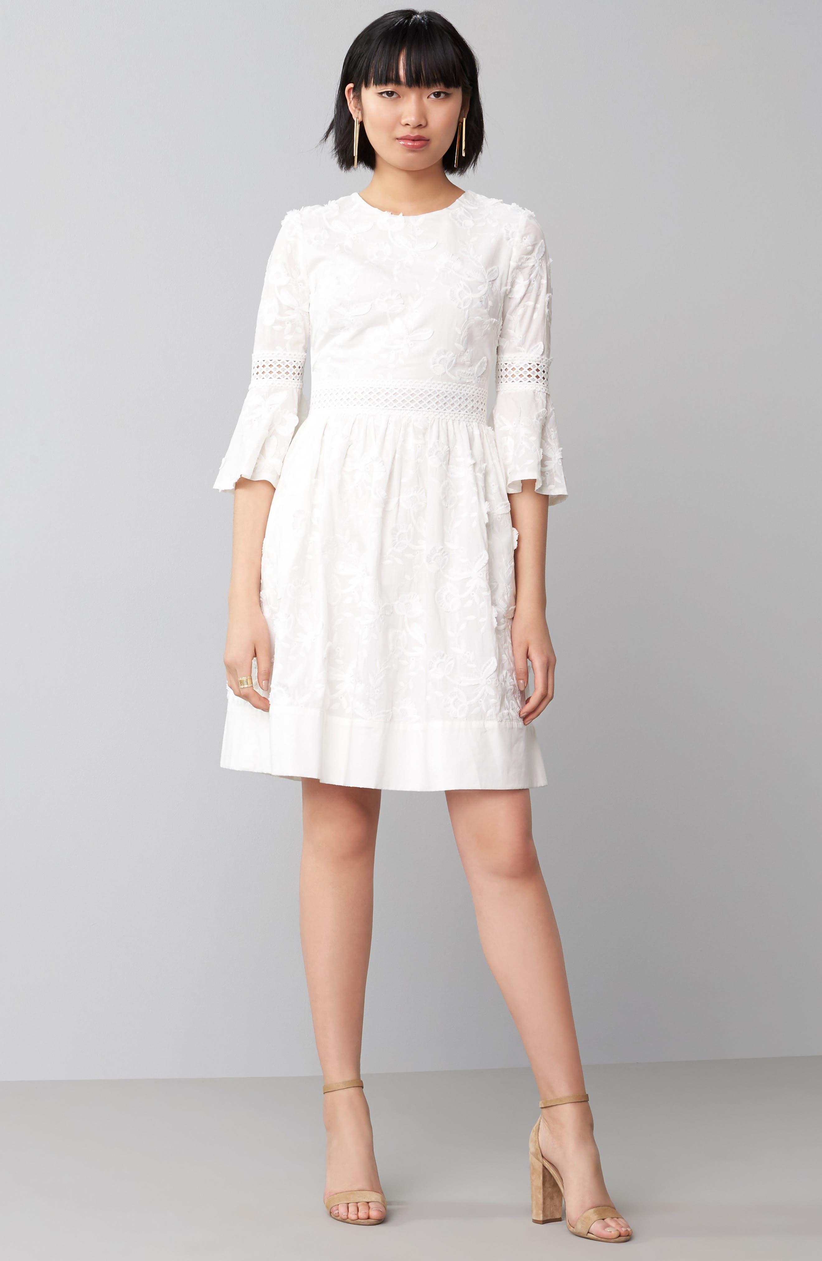 Alternate Image 2  - Eliza J Fit & Flare Dress (Regular & Petite)