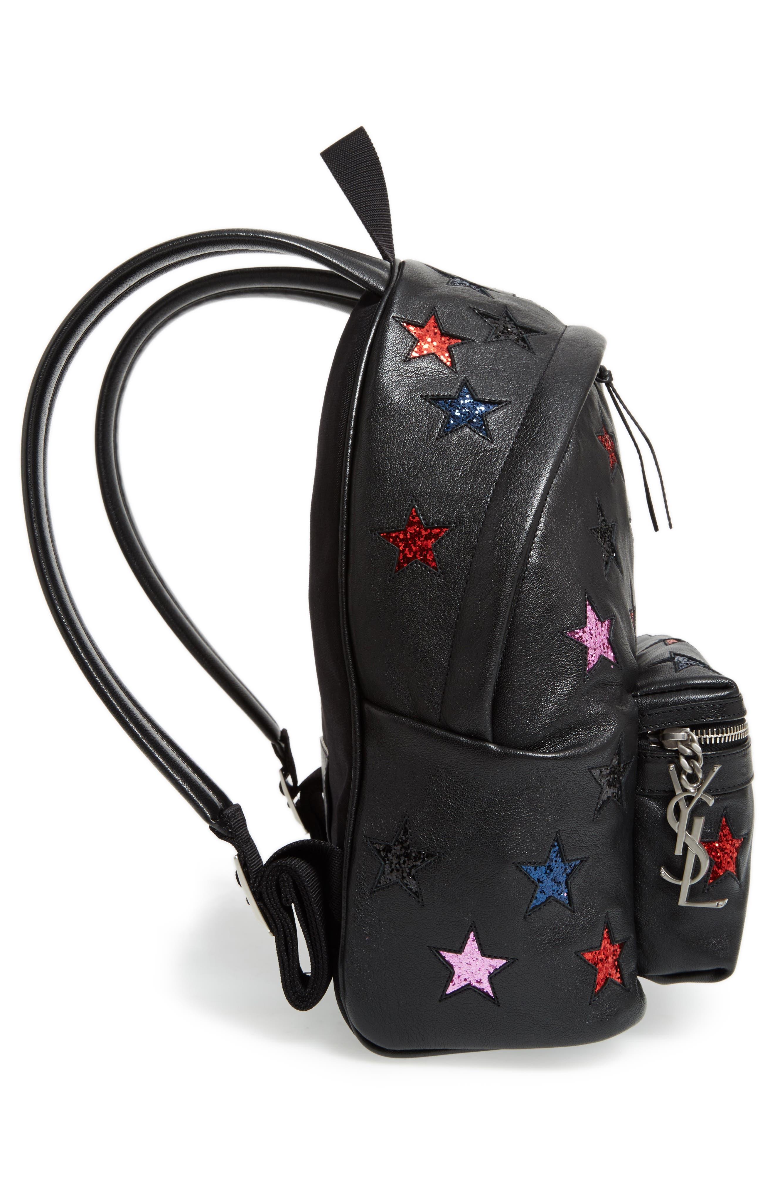 Alternate Image 5  - Saint Laurent Mini City California Star Leather Backpack