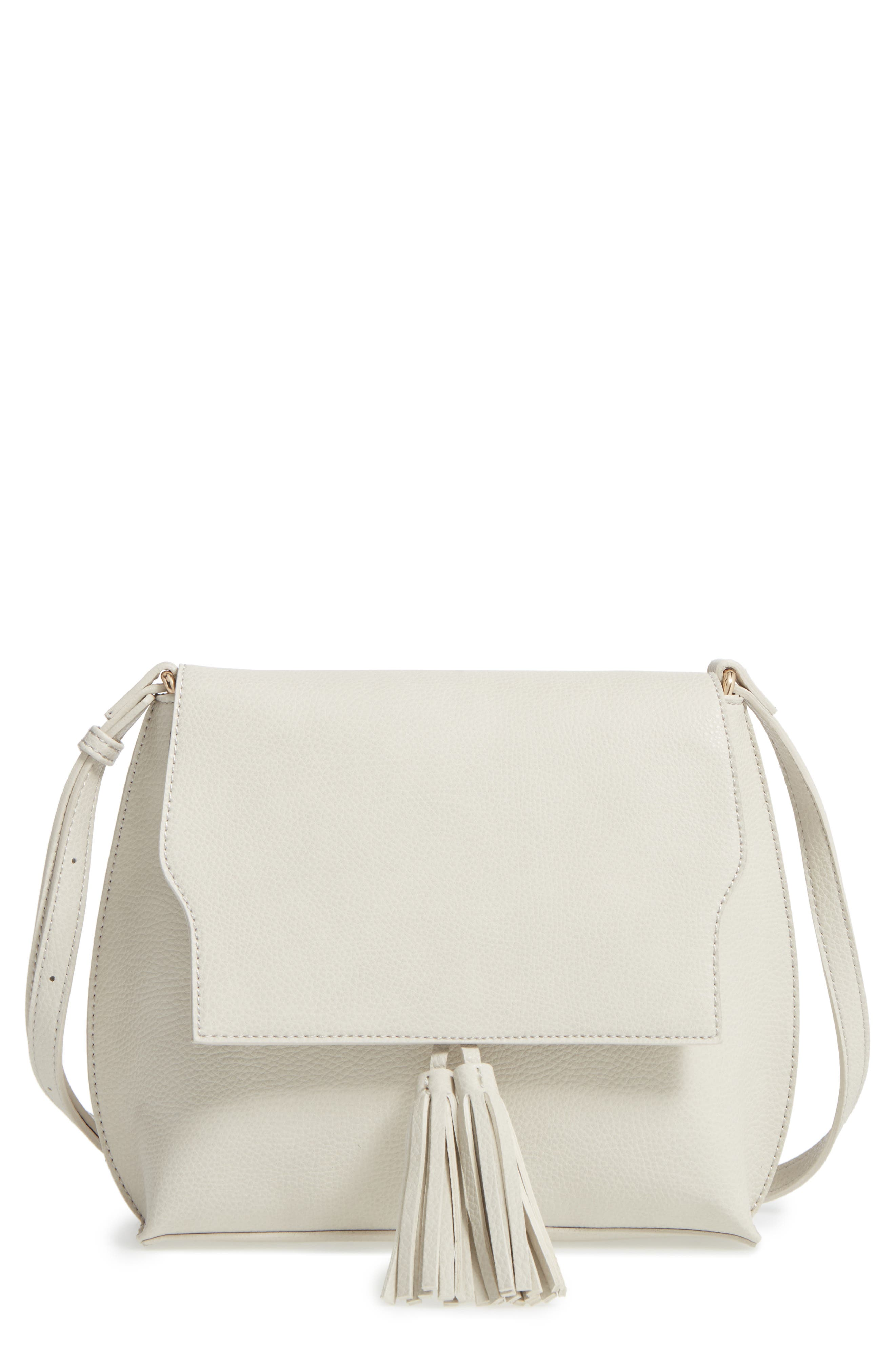 Alternate Image 1 Selected - Sole Society Tassel Faux Leather Crossbody Bag