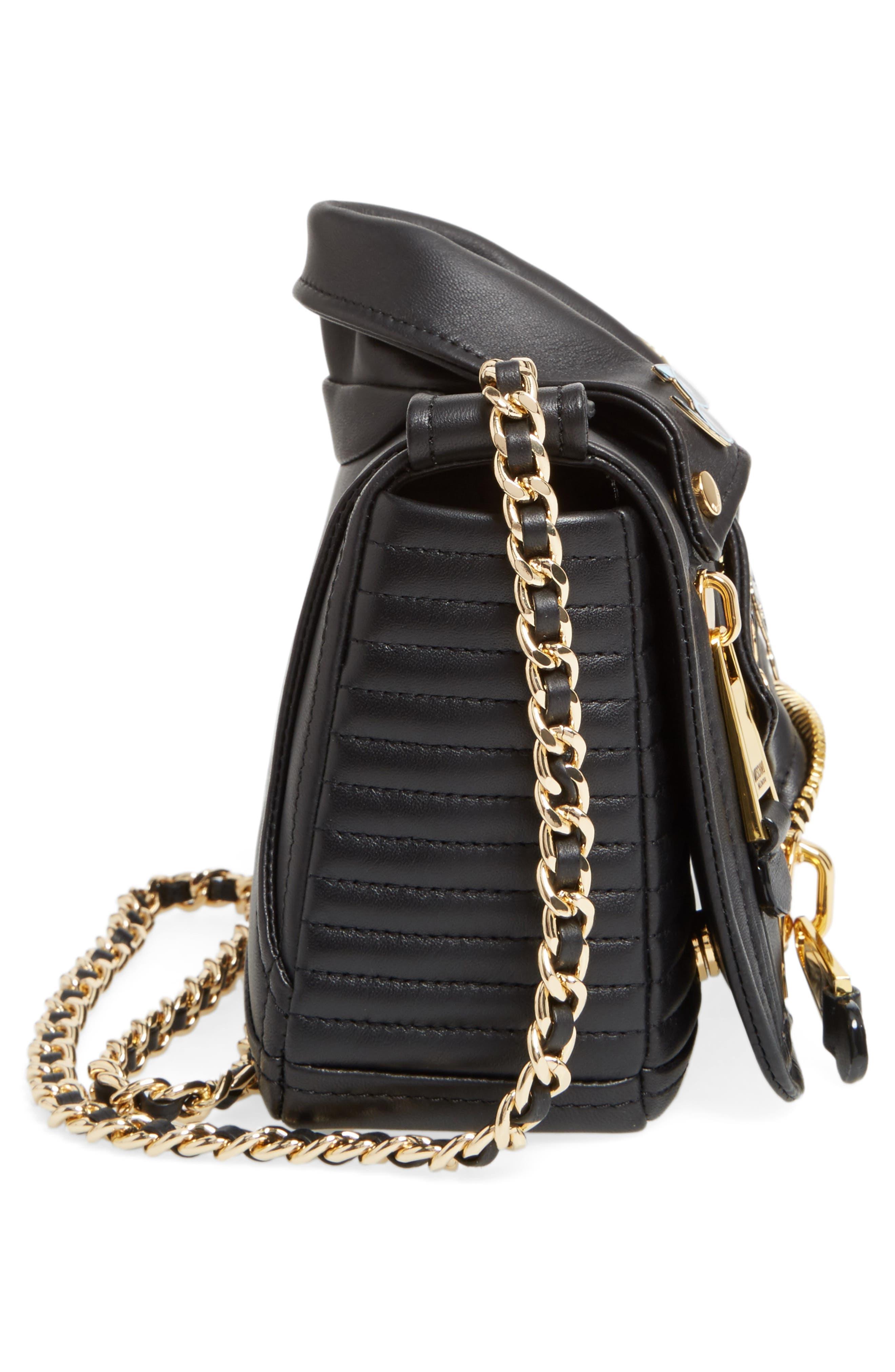 Alternate Image 4  - Moschino Biker Jacket Shoulder Bag