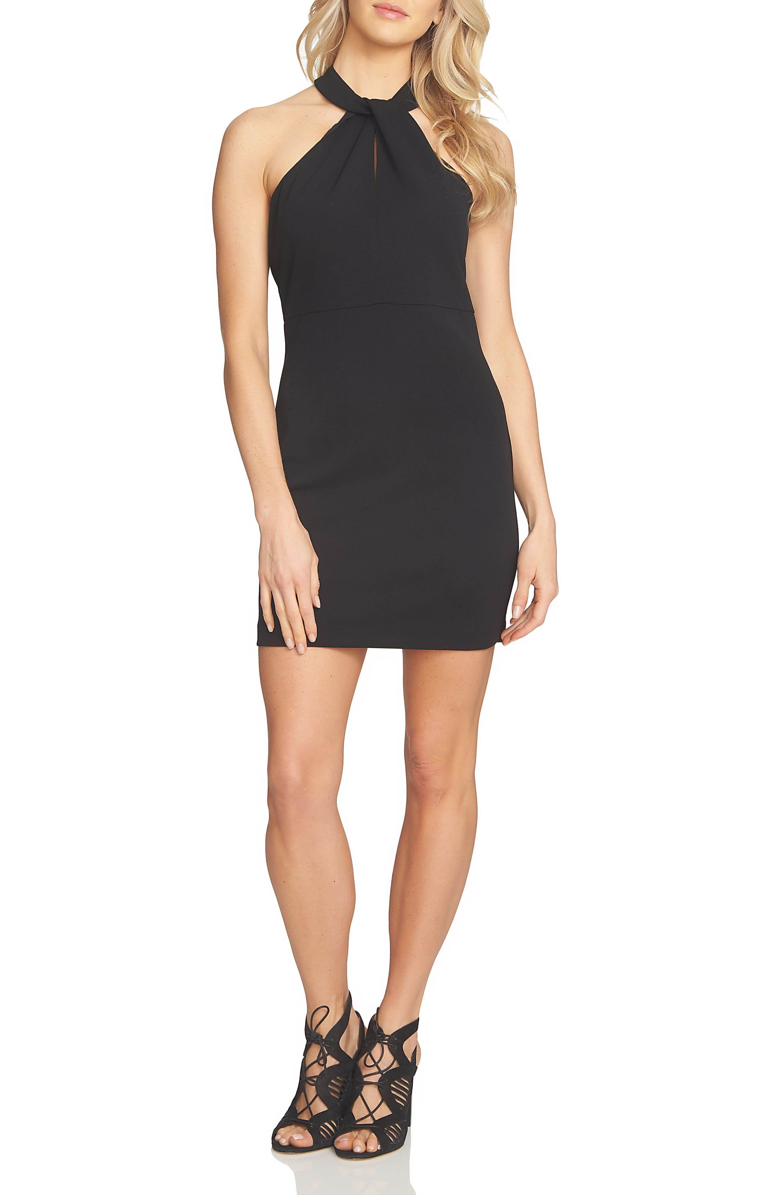 1.STATE High Neck Body-Con Dress