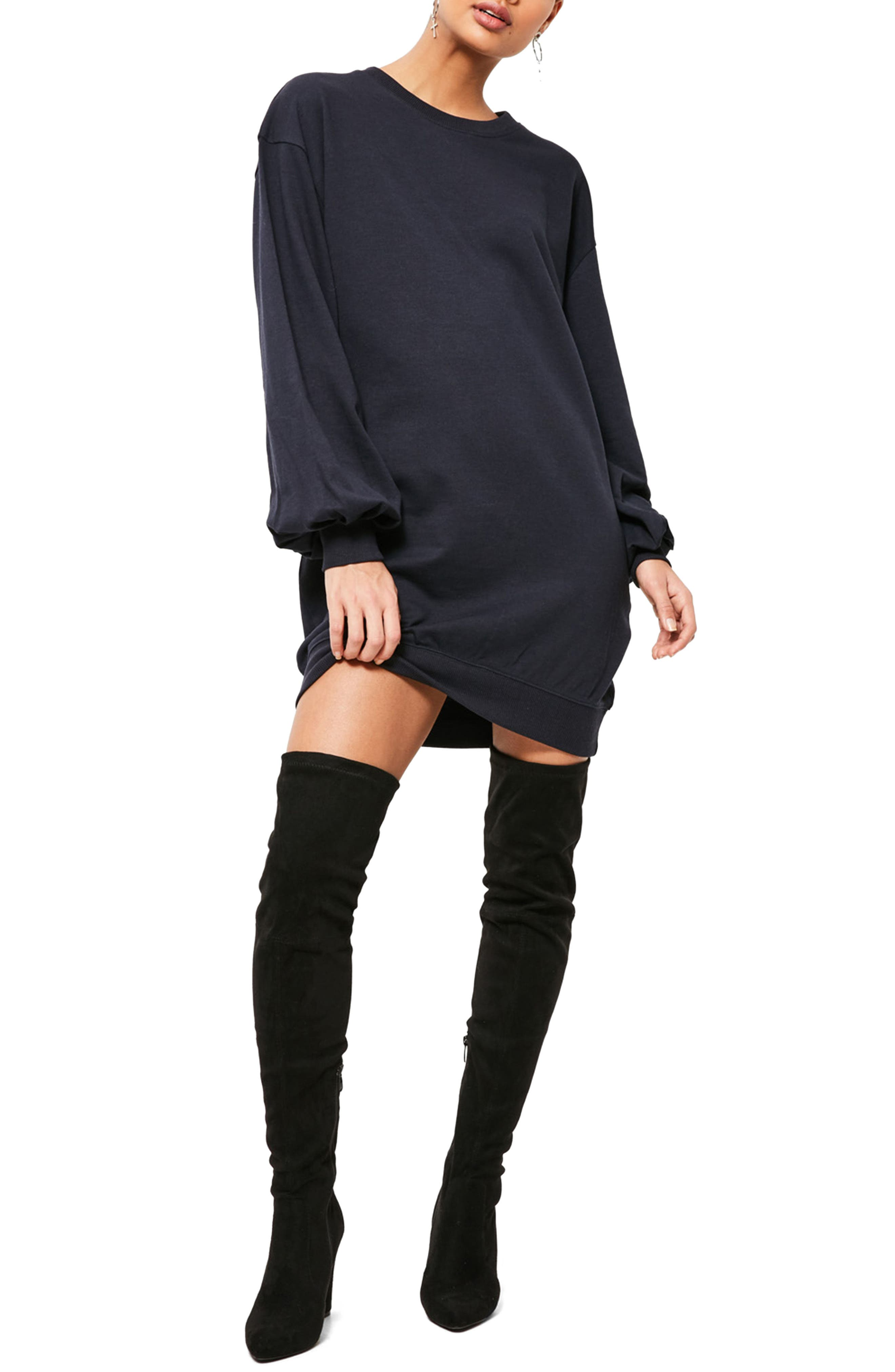 Main Image - Missguided Balloon Sleeve Knit Dress