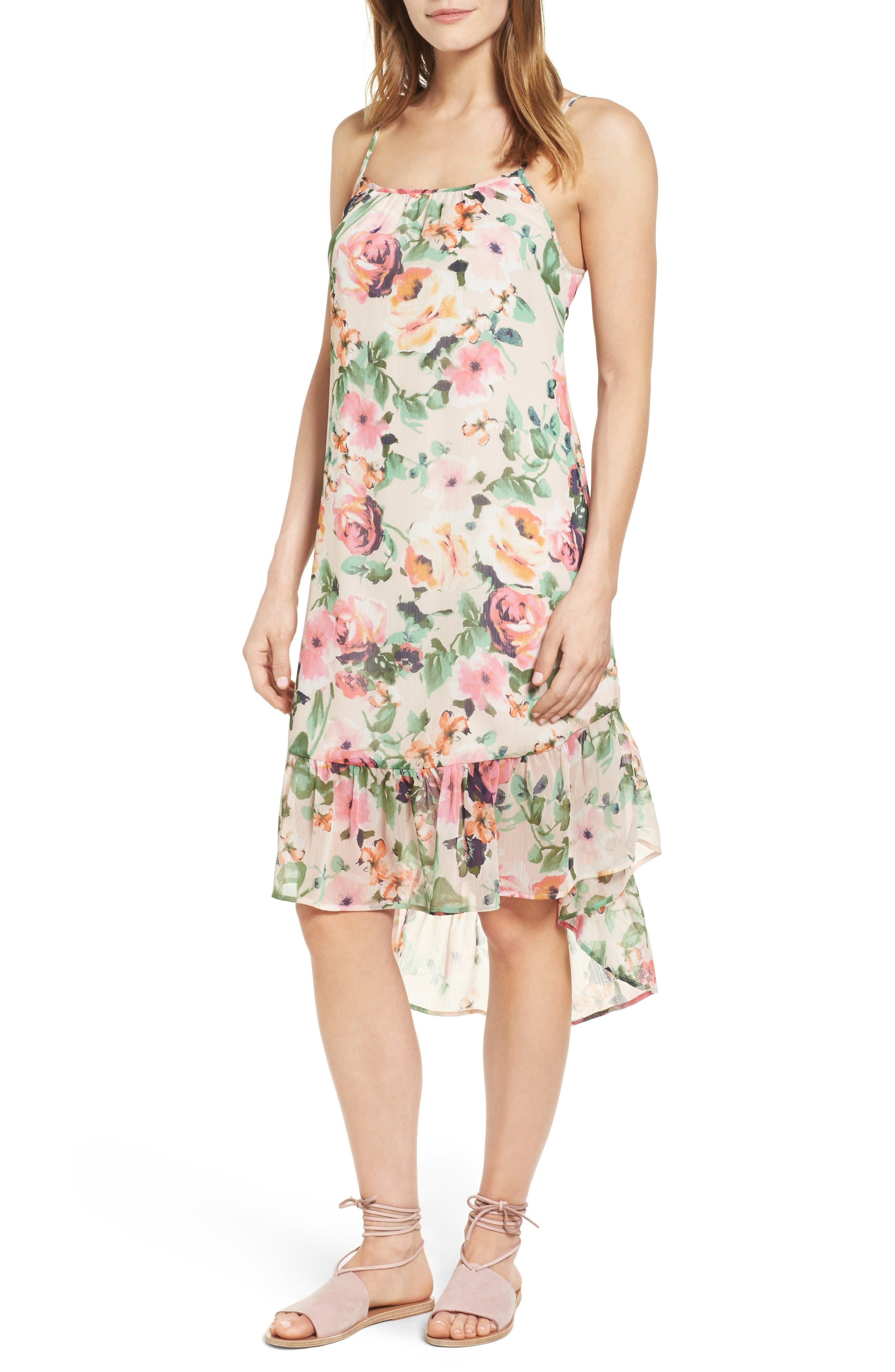 Charles Henry Chiffon Midi Dress (Regular & Petite)