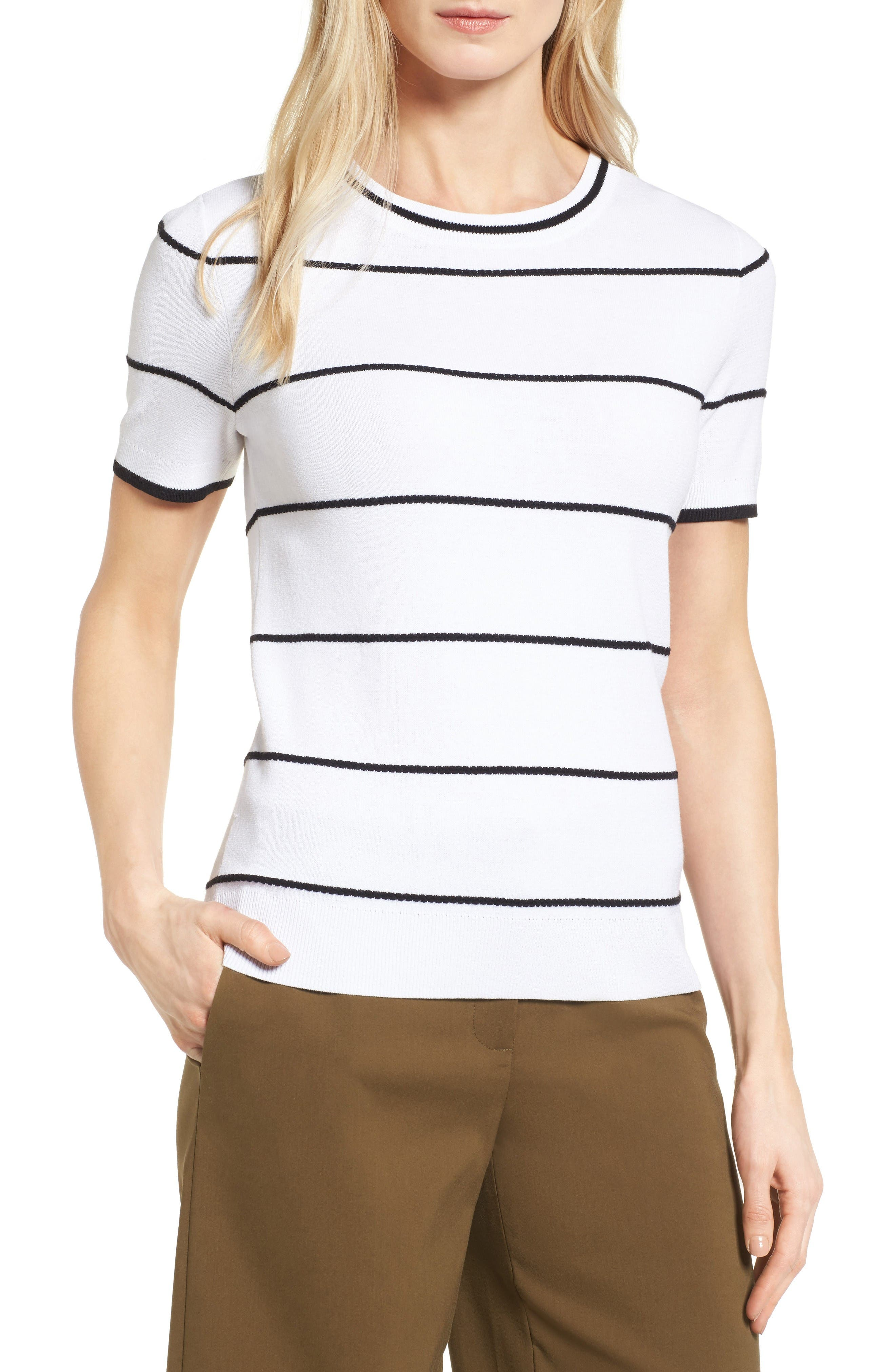 Alternate Image 1 Selected - Halogen® Bow Back Pullover (Regular and Petite)