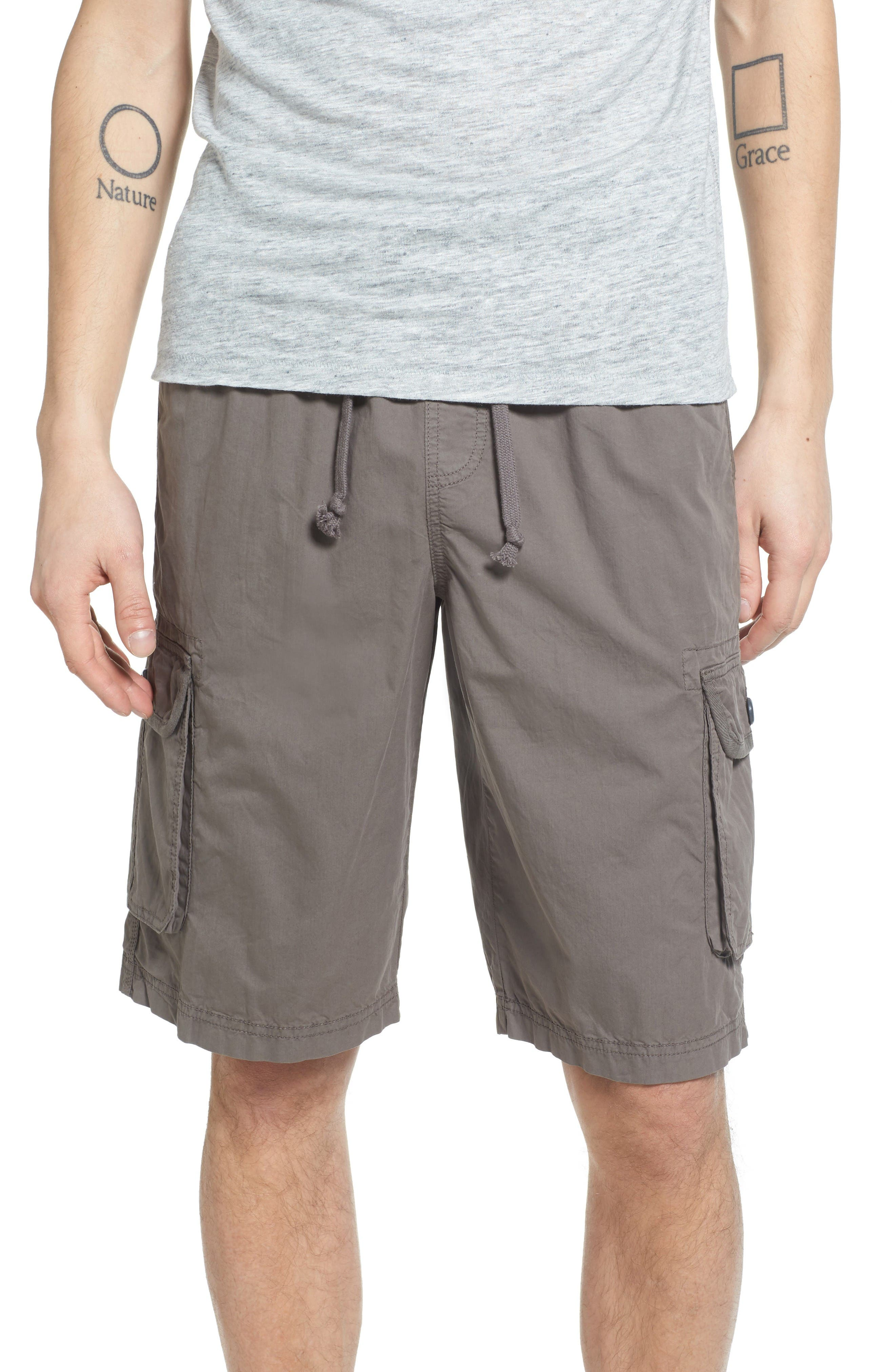 TREASURE & BOND Rib Waist Cargo Shorts