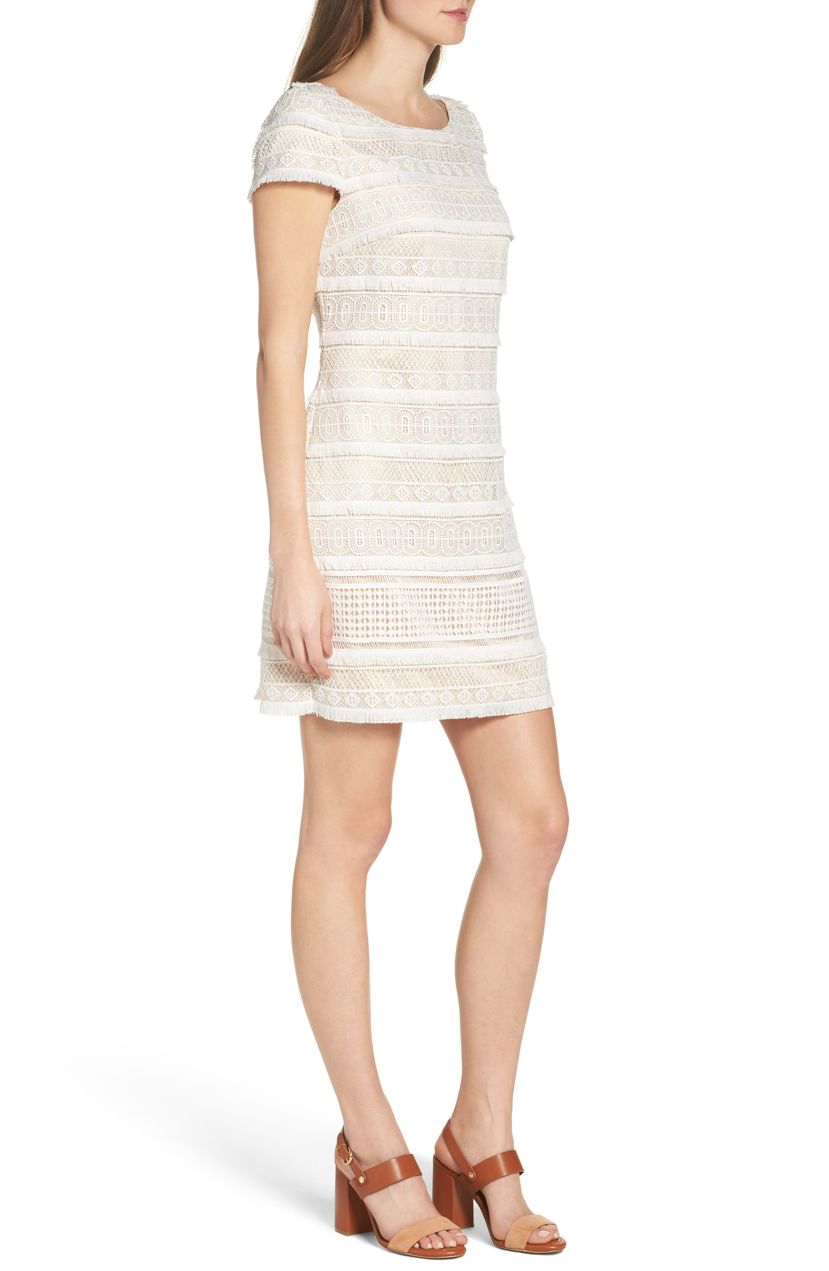Alternate Image 4  - Eliza J Lace Shift Dress (Regular & Petite)
