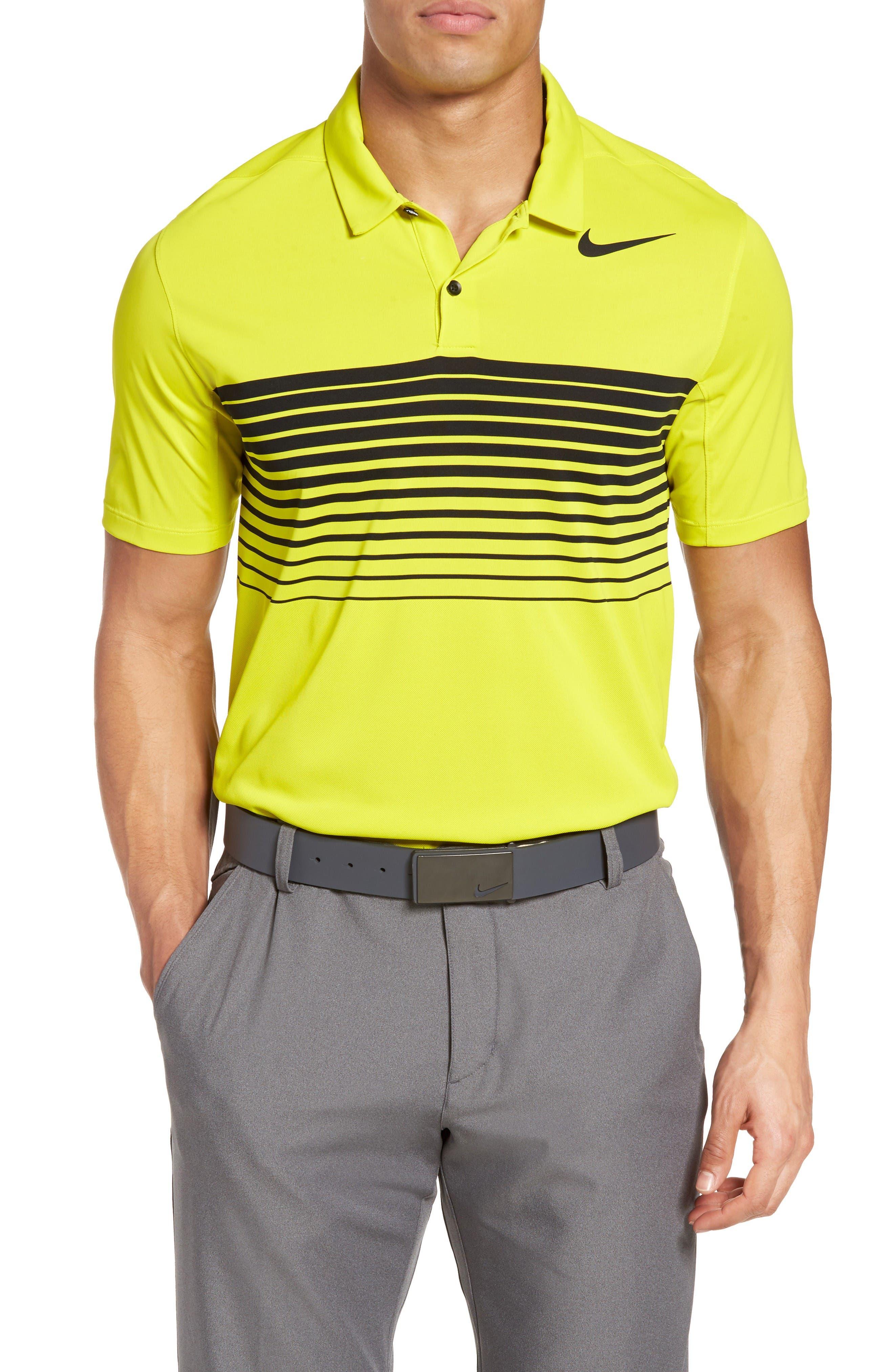 Nike Mobility Speed Stripe Stretch Golf Polo