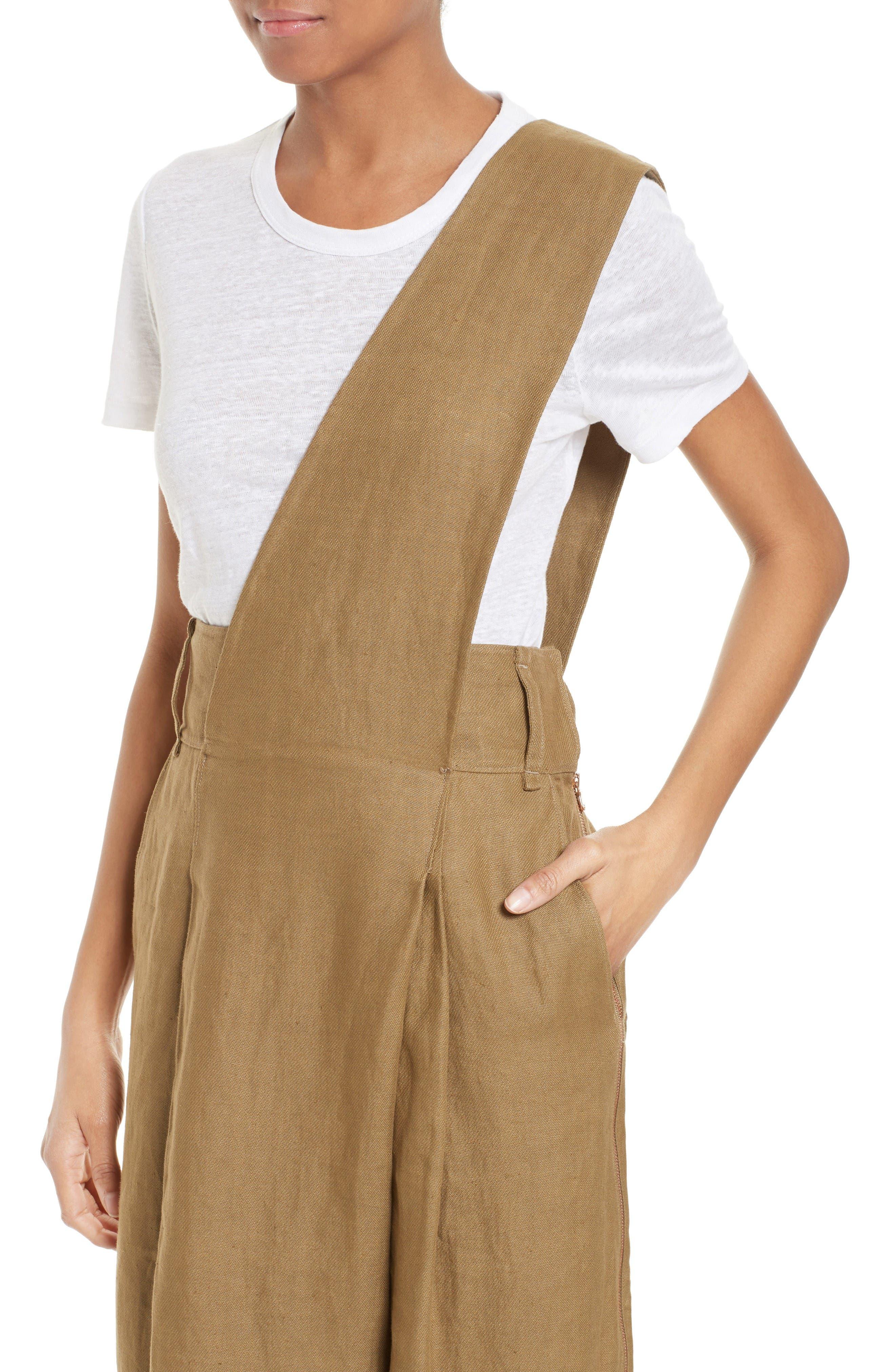 Alternate Image 4  - Tibi Hessian Linen Jumpsuit