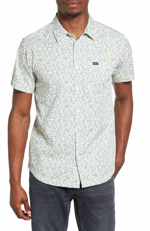 RVCA Top Poppy Print Woven Shirt