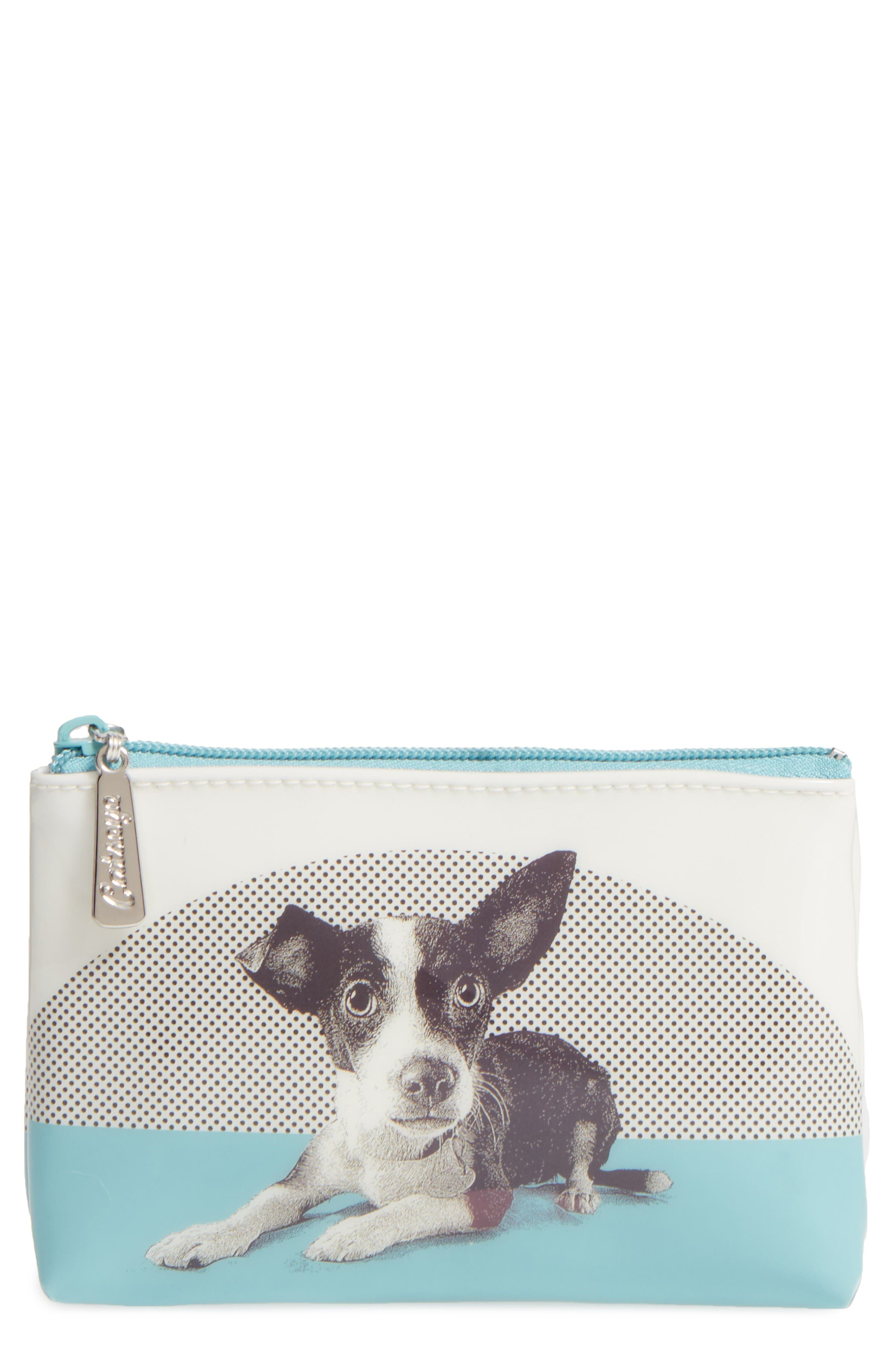 CATSEYE LONDON Etched Dog Small Zip Pouch