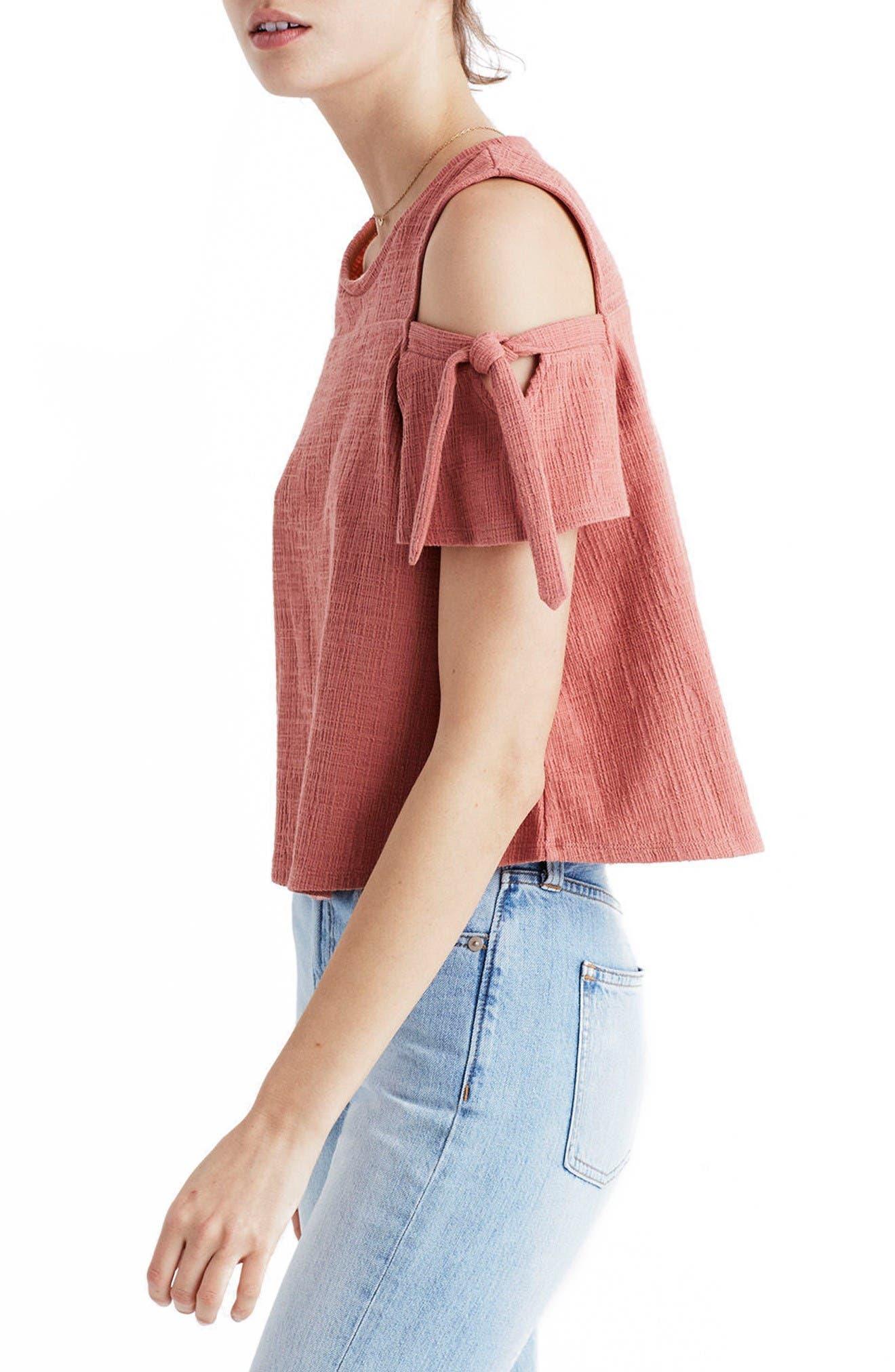Alternate Image 2  - Madewell Skylark Cold Shoulder Top