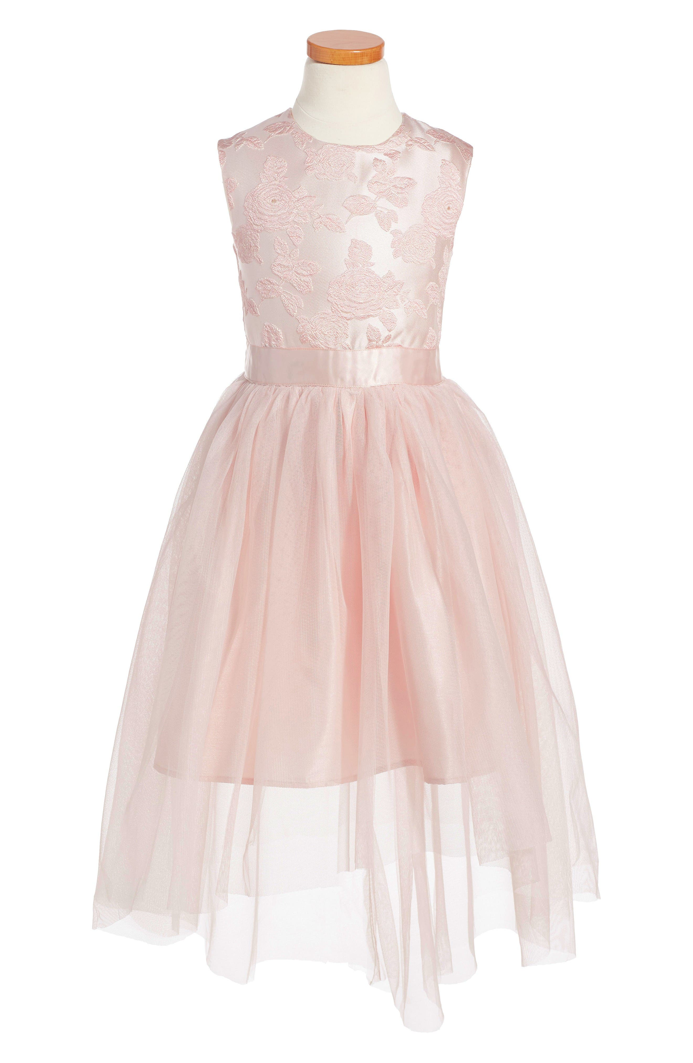 RUBY & BLOOM Brodcade Fit & Flare Dress