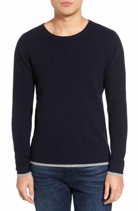 Velvet by Graham   Spencer Jagger01 Tipped Cashmere Sweater