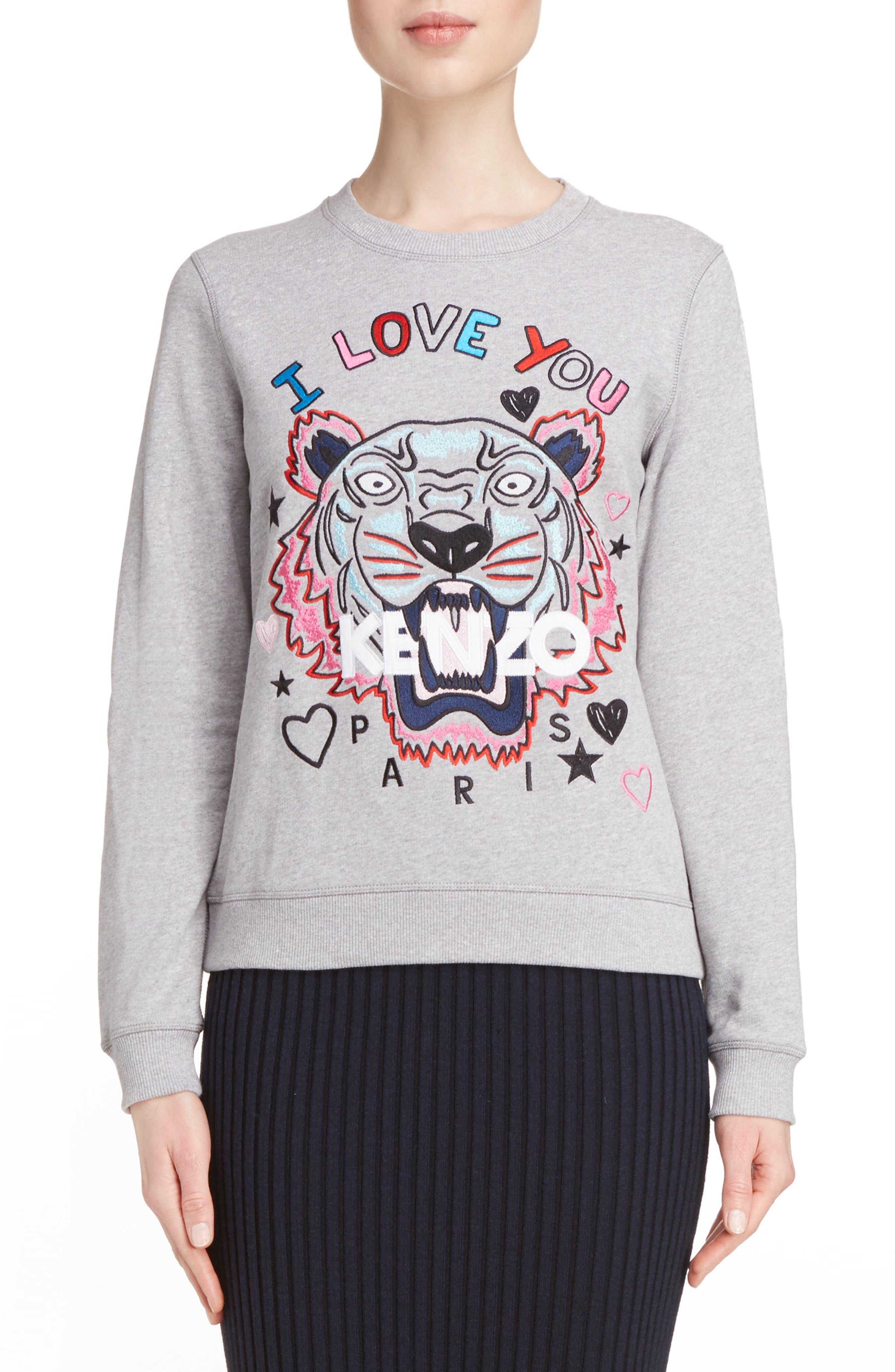 Alternate Image 1 Selected - KENZO Tiger I Love You Sweatshirt