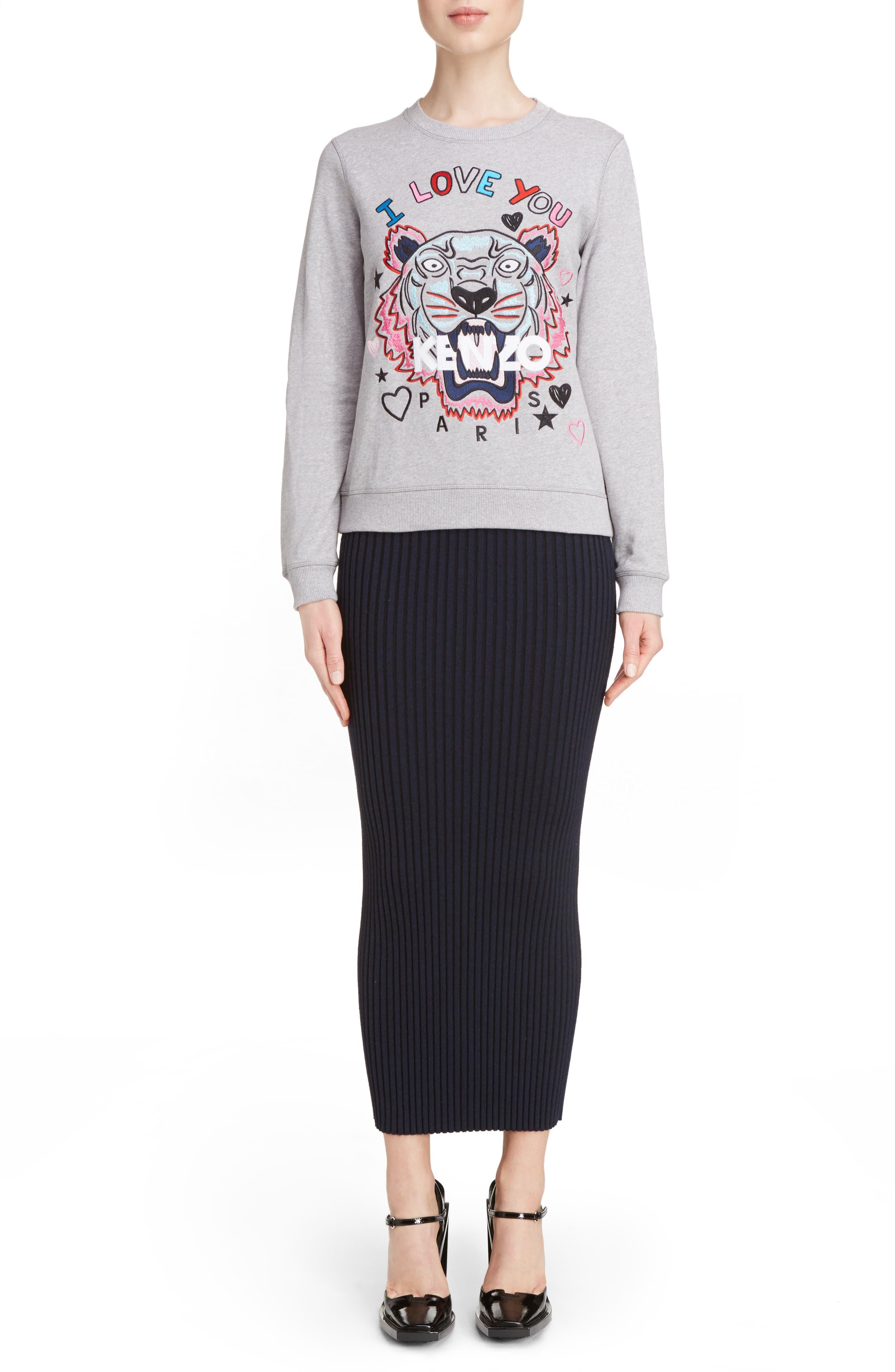 Alternate Image 2  - KENZO Tiger I Love You Sweatshirt