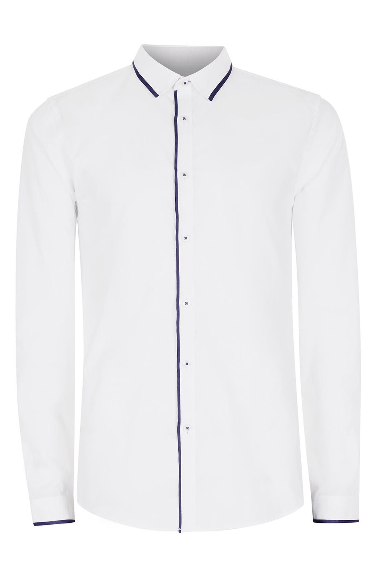Alternate Image 7  - Topman White Contrast Dress Shirt