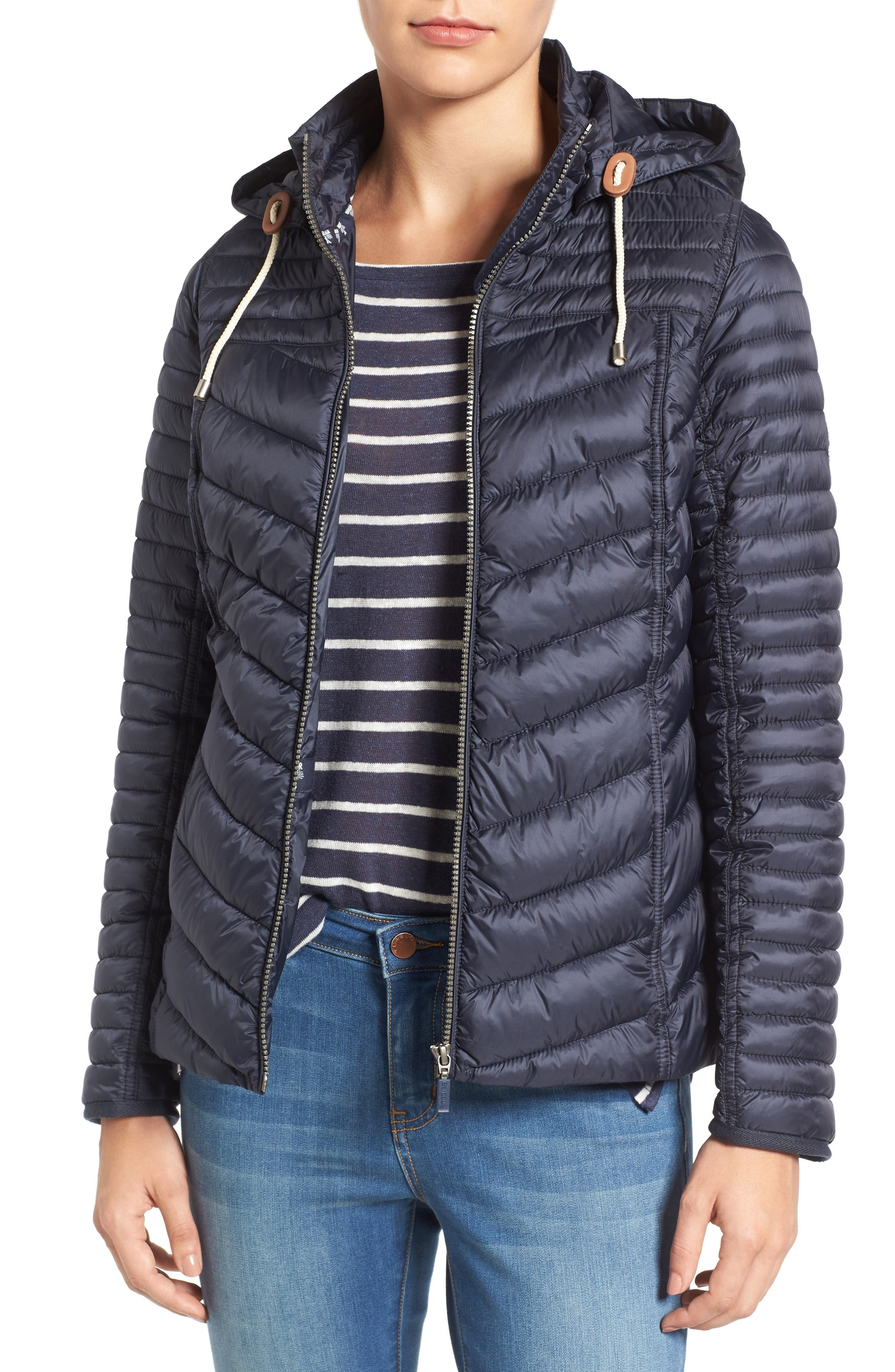 Barbour Headland Quilted Hooded Jacket