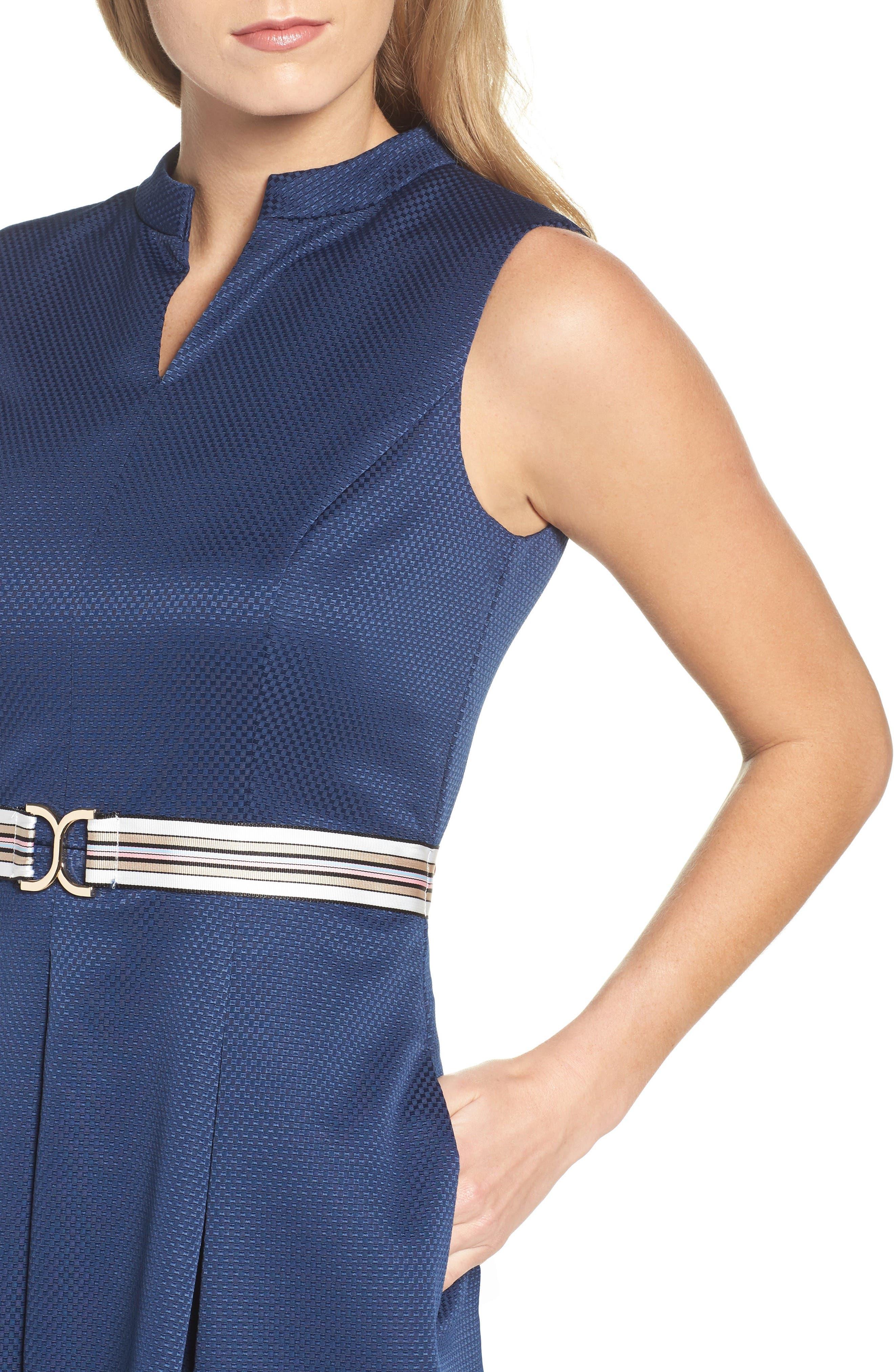 Alternate Image 5  - Ellen Tracy Belted Fit & Flare Dress