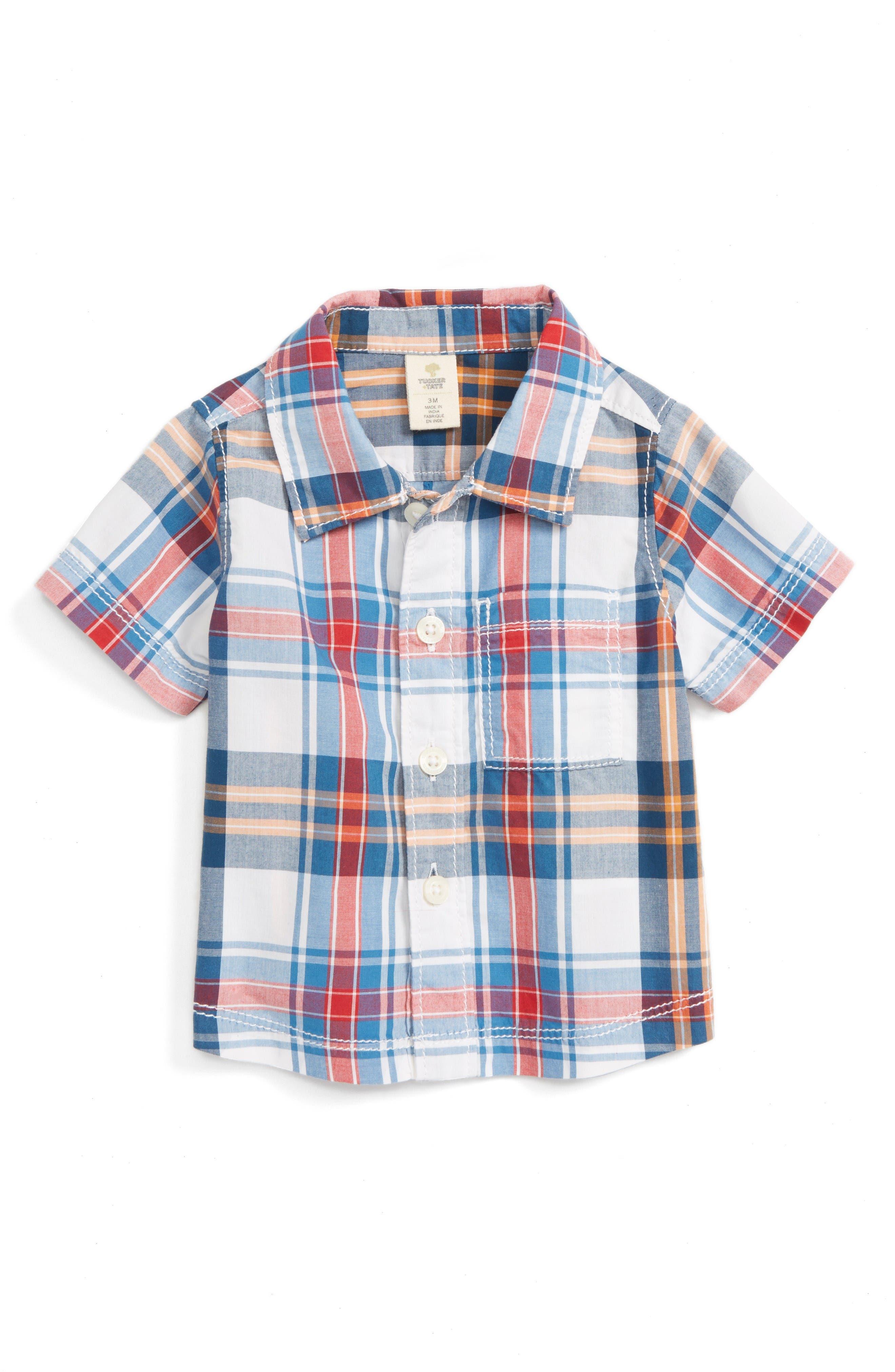 Tucker + Tate Plaid Poplin Shirt (Baby Boys)