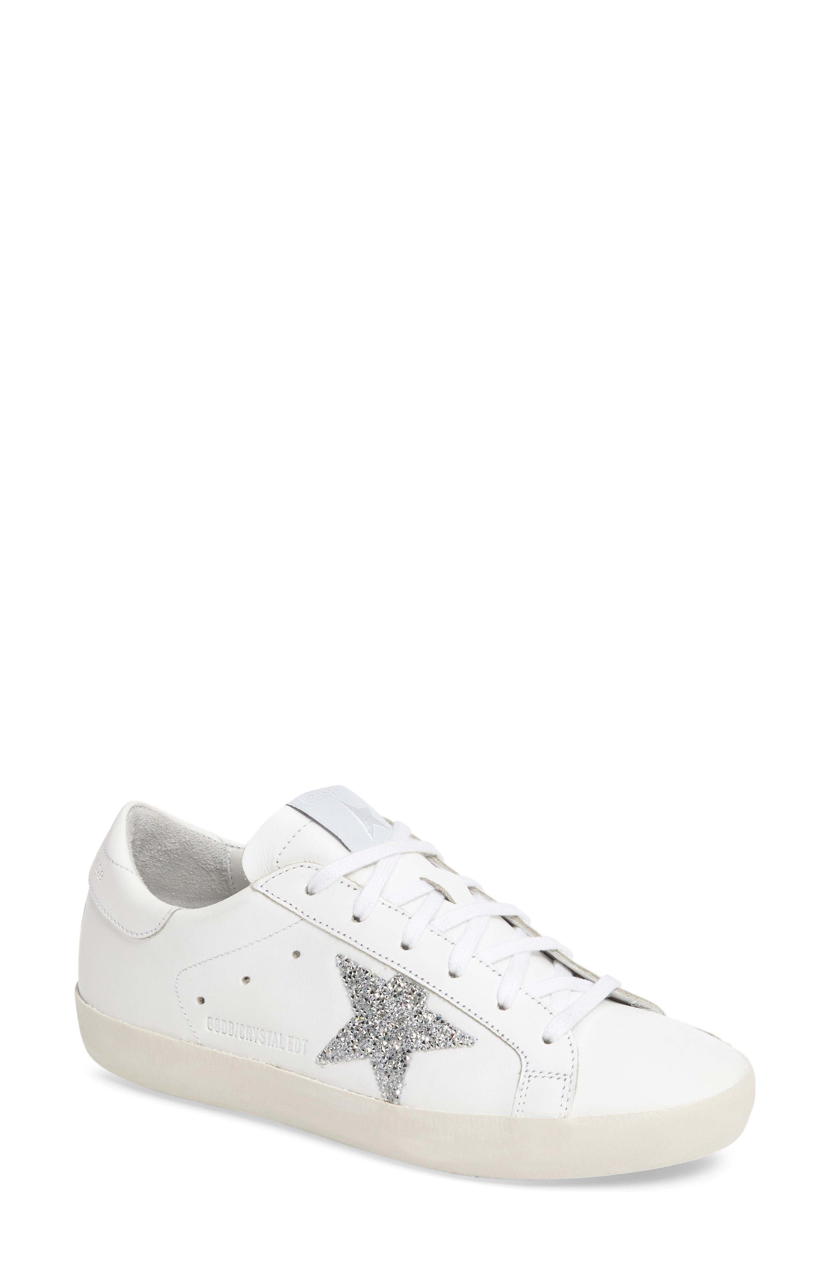 Alternate Image 1 Selected - Golden Goose Superstar High Top Swarovski Crystal Sneaker (Women)