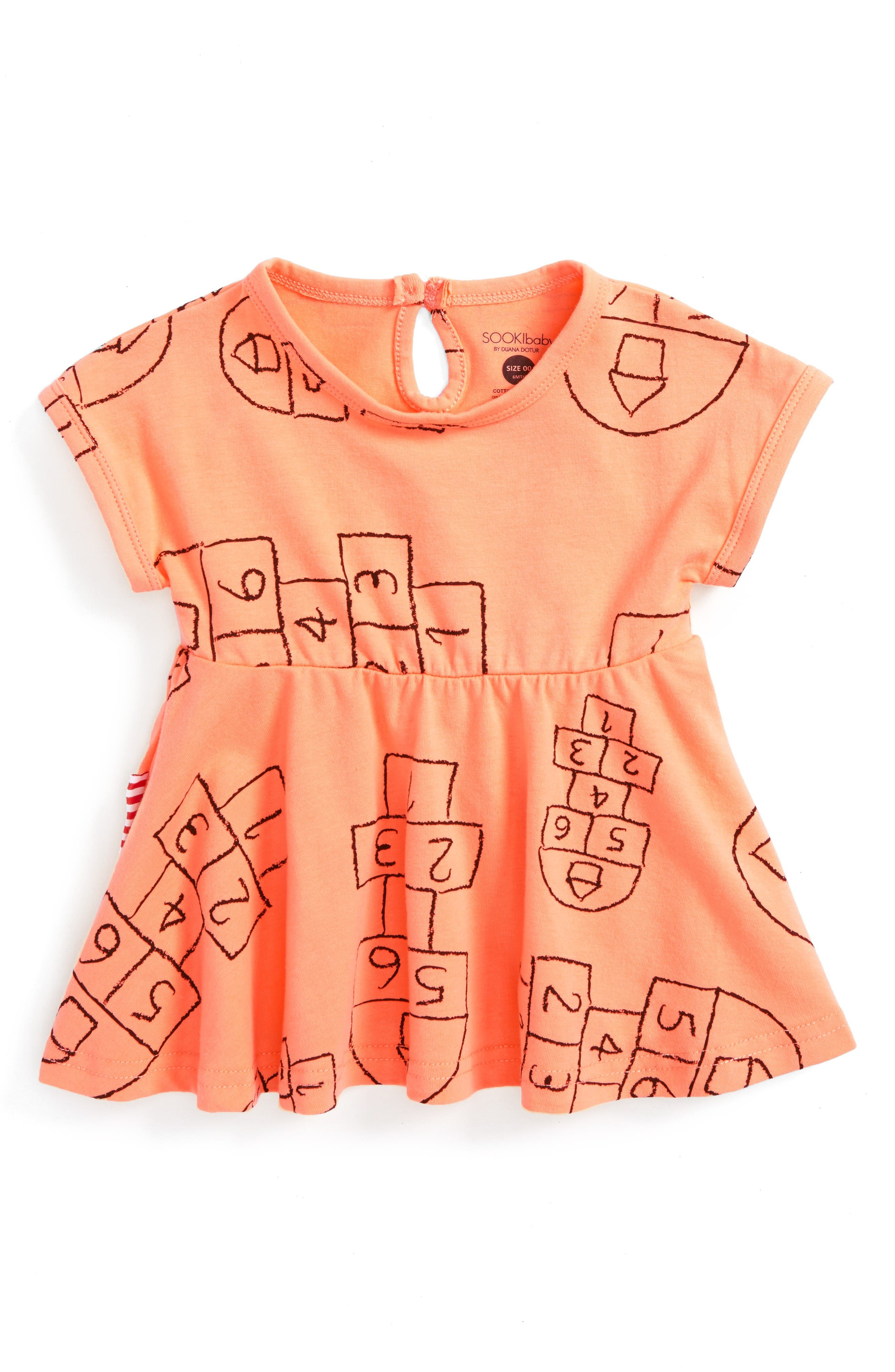 SOOKIbaby Print Knit Dress (Baby & Toddler)