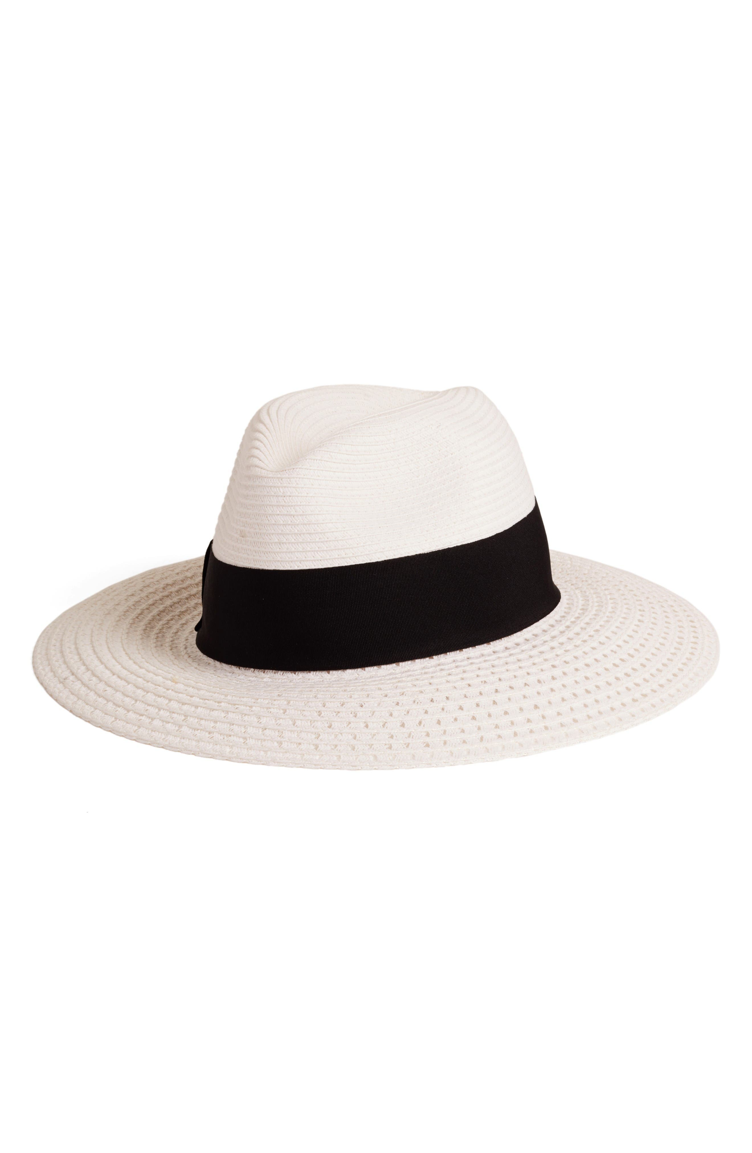 Alternate Image 1 Selected - Nordstrom Wide Brim Straw Panama Hat