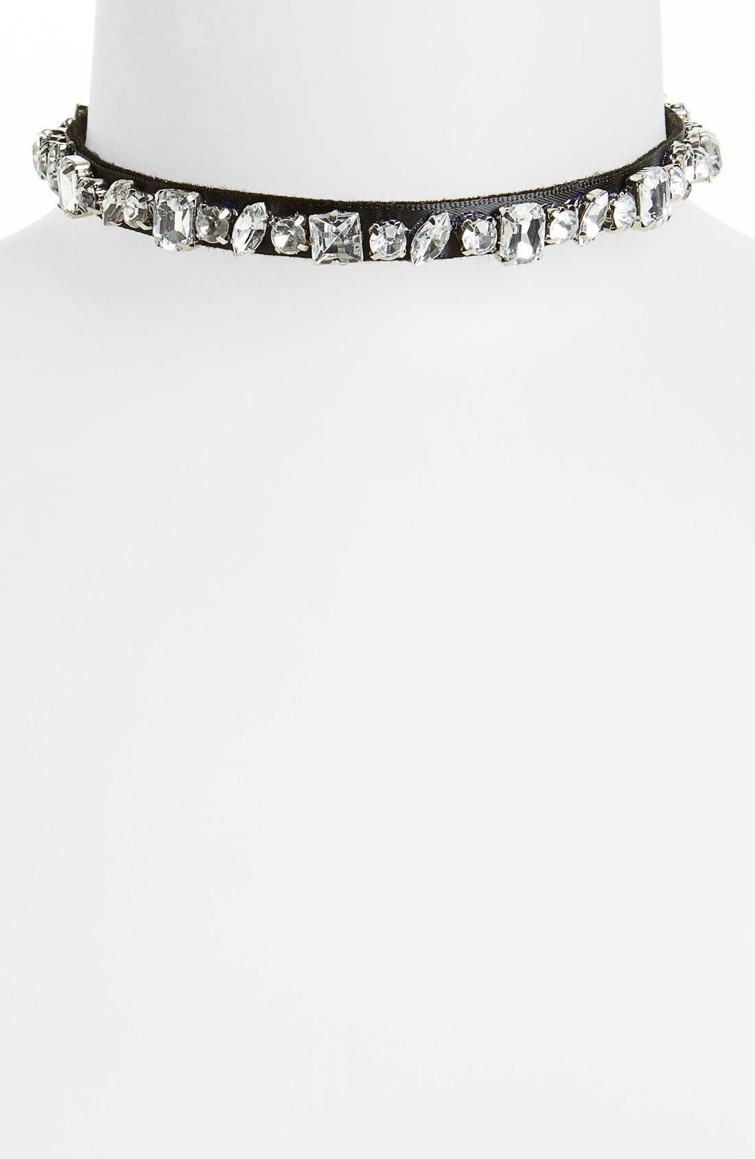Alternate Image 1 Selected - Topshop Crystal Rhinestone Choker