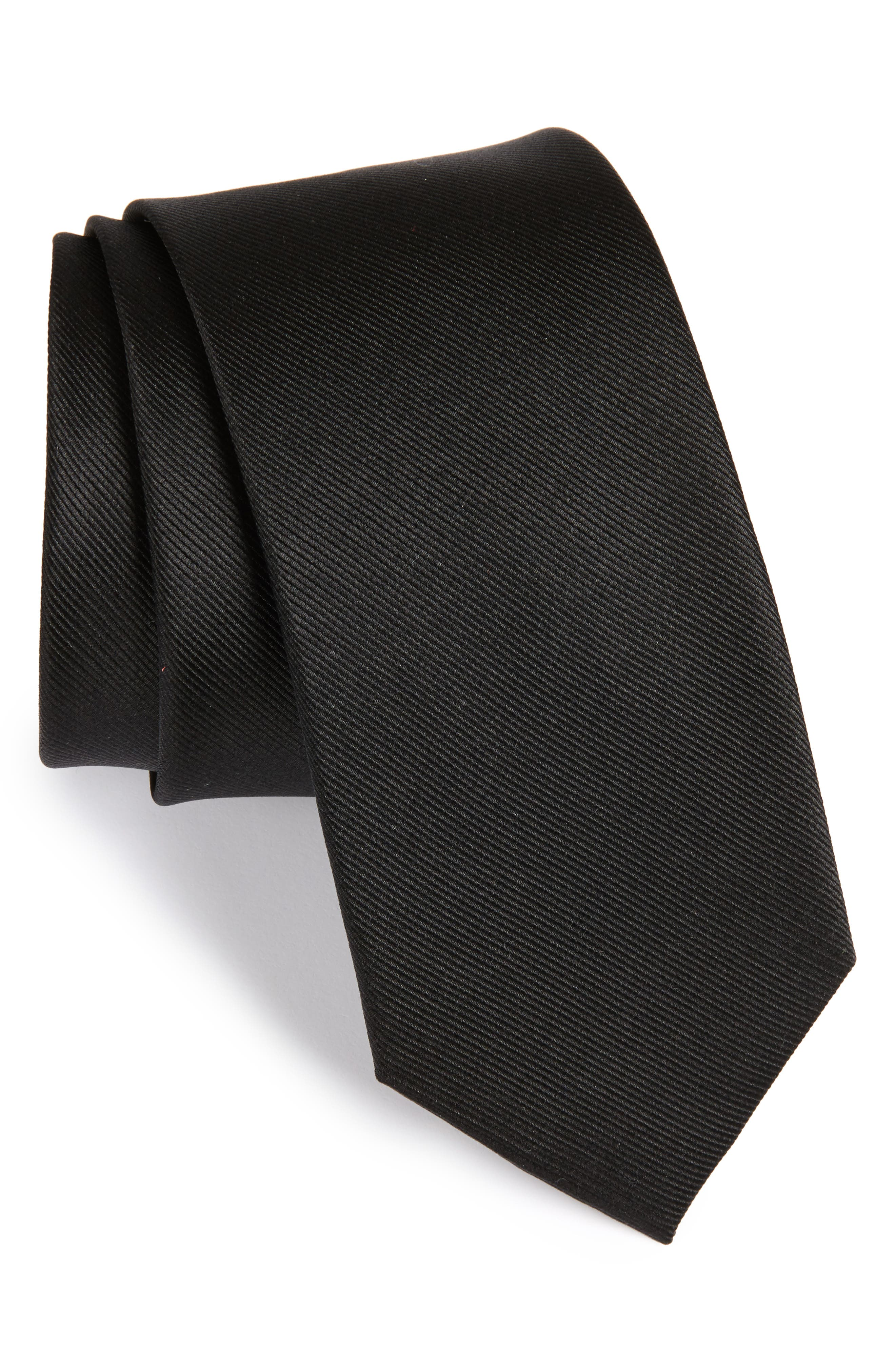 The Tie Bar Grosgrain Silk Tie