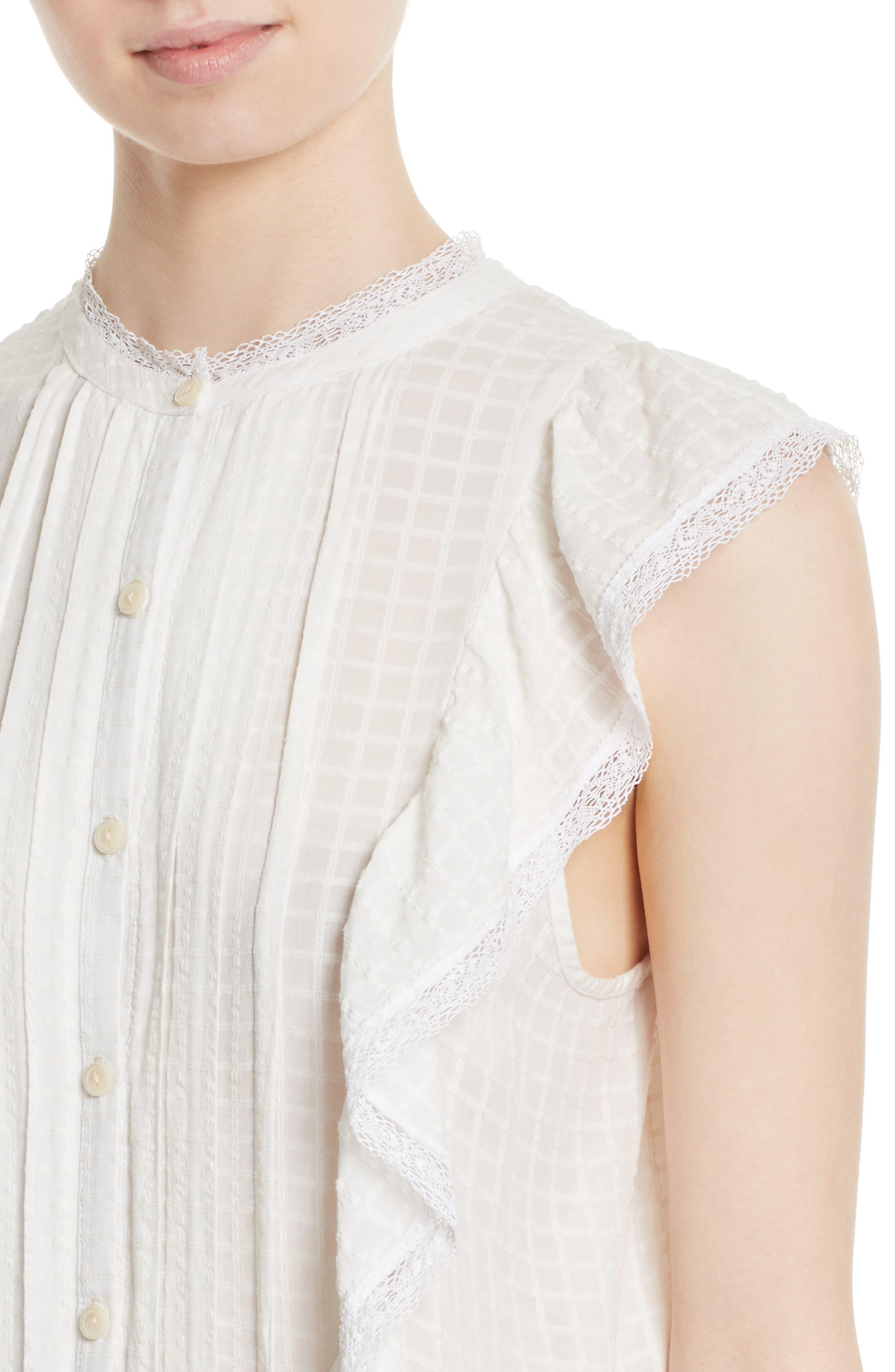 Alternate Image 4  - La Vie Rebecca Taylor Draped Ruffle Dress
